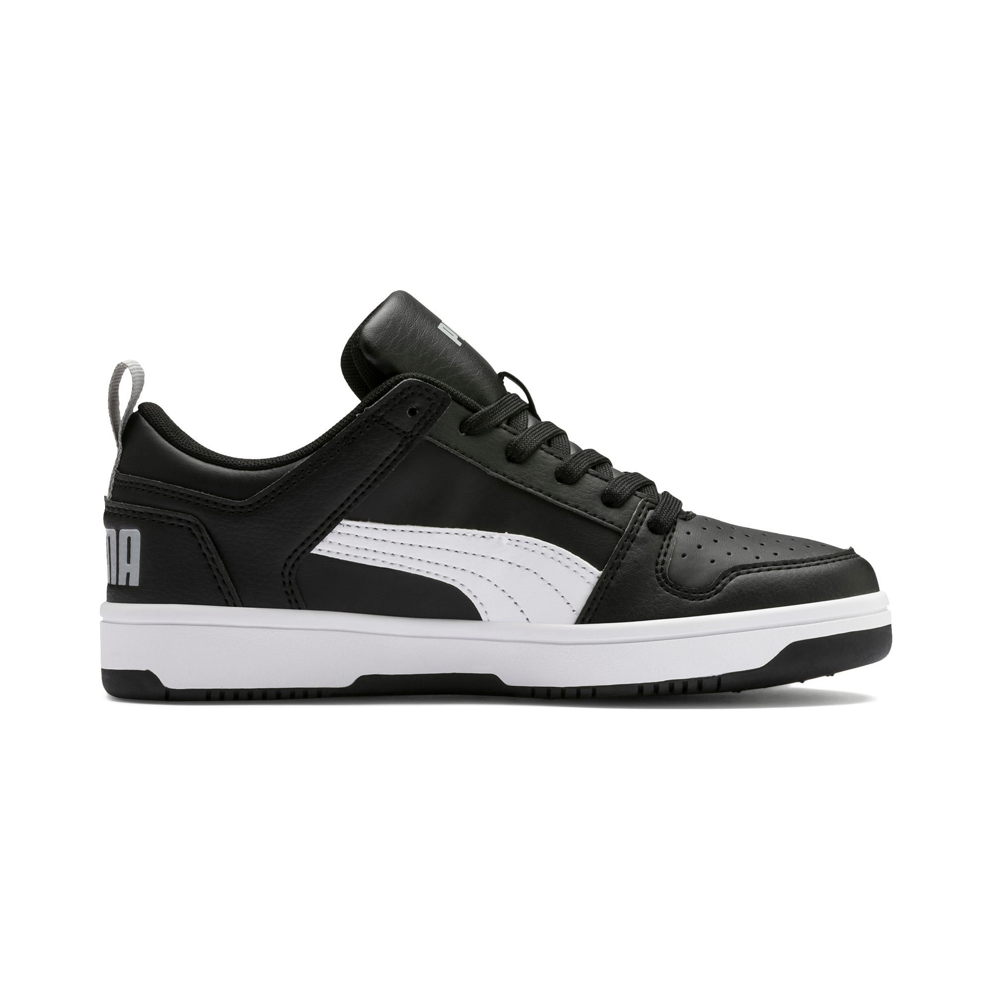 Thumbnail 5 of Rebound Lay-Up Lo Youth Trainers, Puma Black-White-High Rise, medium