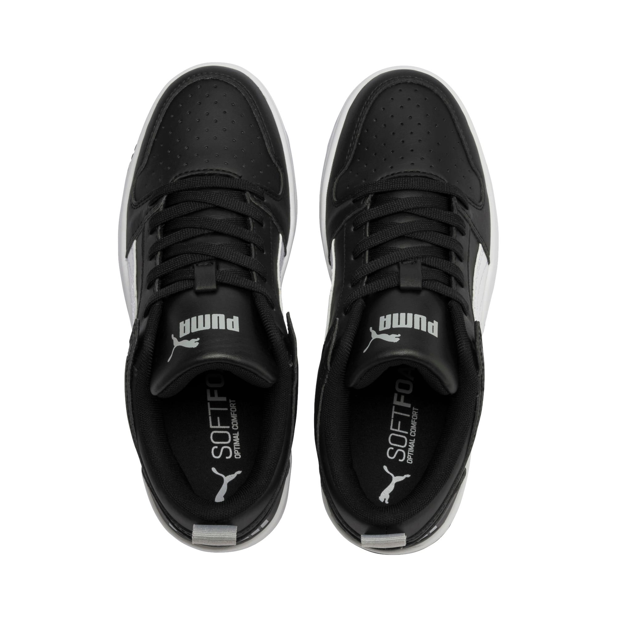 Thumbnail 6 of Rebound Lay-Up Lo Youth Trainers, Puma Black-White-High Rise, medium