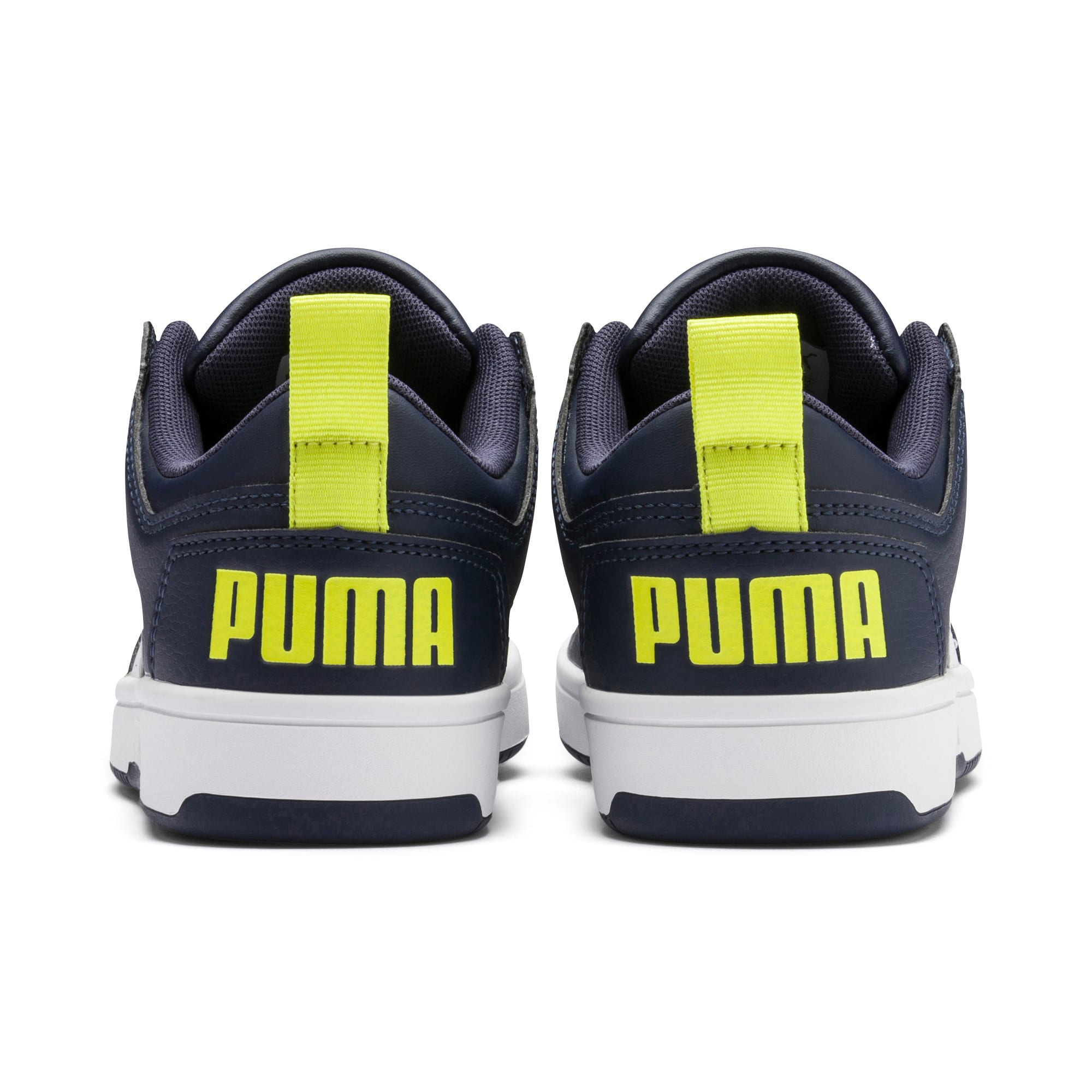 Thumbnail 3 of Rebound Lay-Up Lo Youth Trainers, Peacoat-White-Fluo Yellow, medium