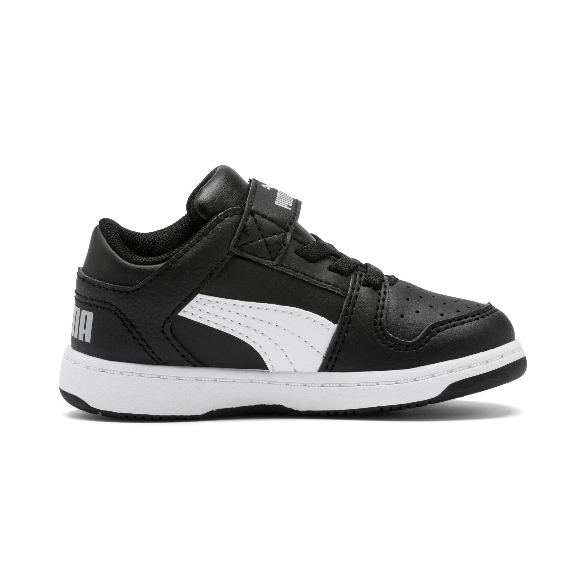 Rebound Layup Lo Babies' Trainers, Puma Black-White-High Rise, large