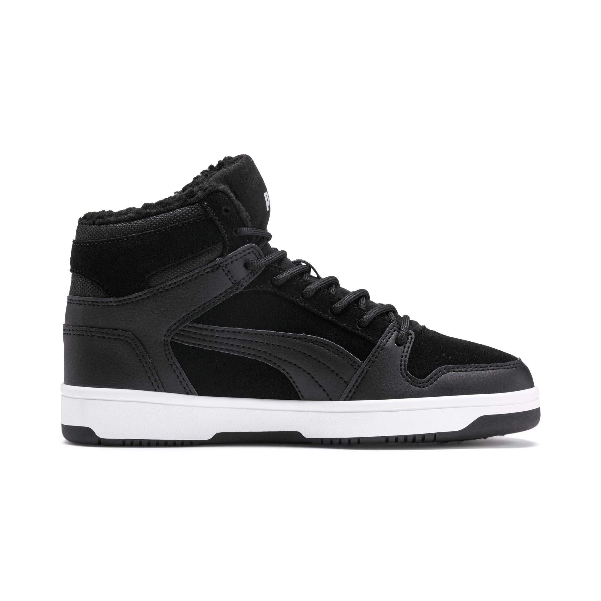 Rebound Lay-Up Fur SD Youth Trainers, Puma Black-Puma White, large