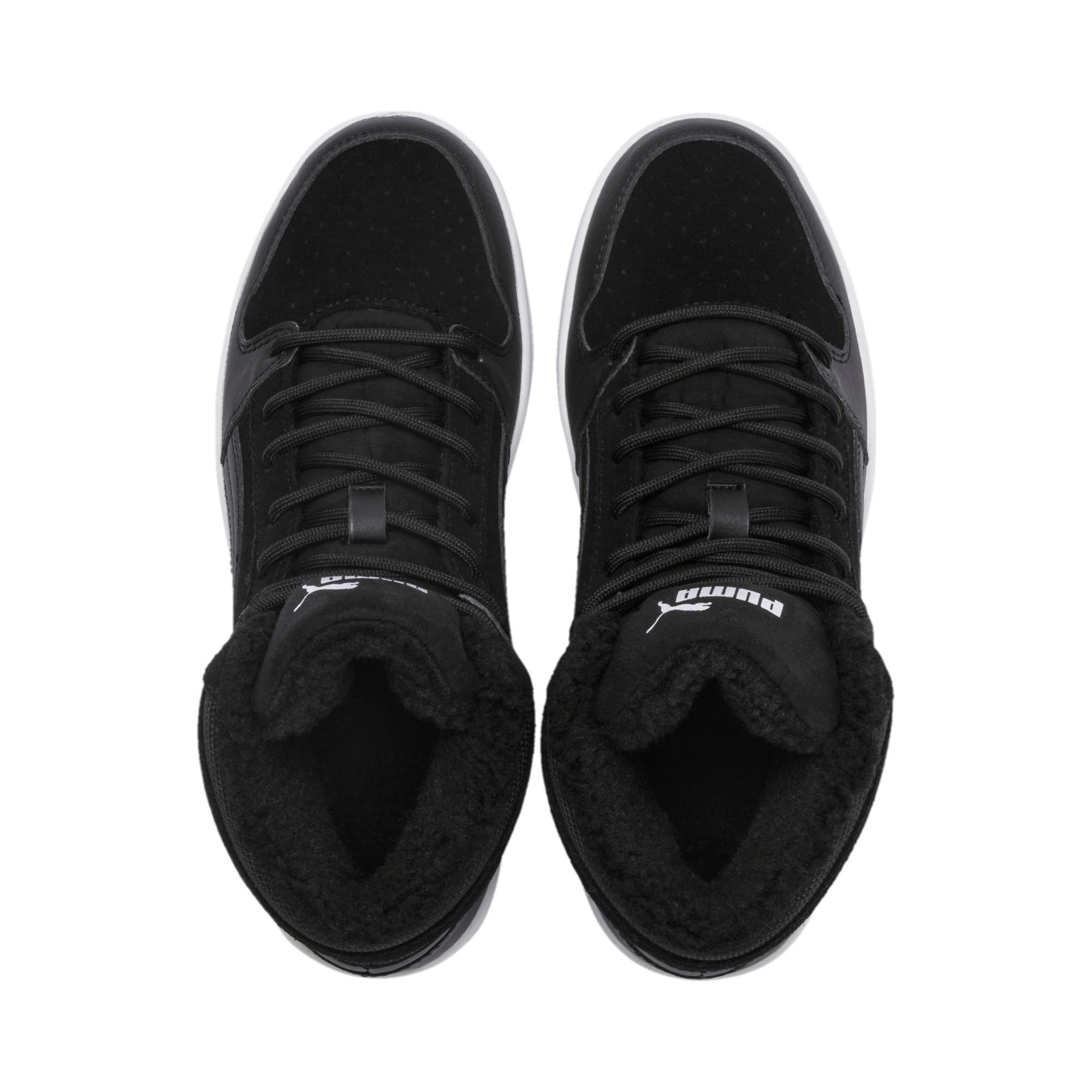 Thumbnail 6 of Rebound Lay-Up Fur SD Youth Trainers, Puma Black-Puma White, medium