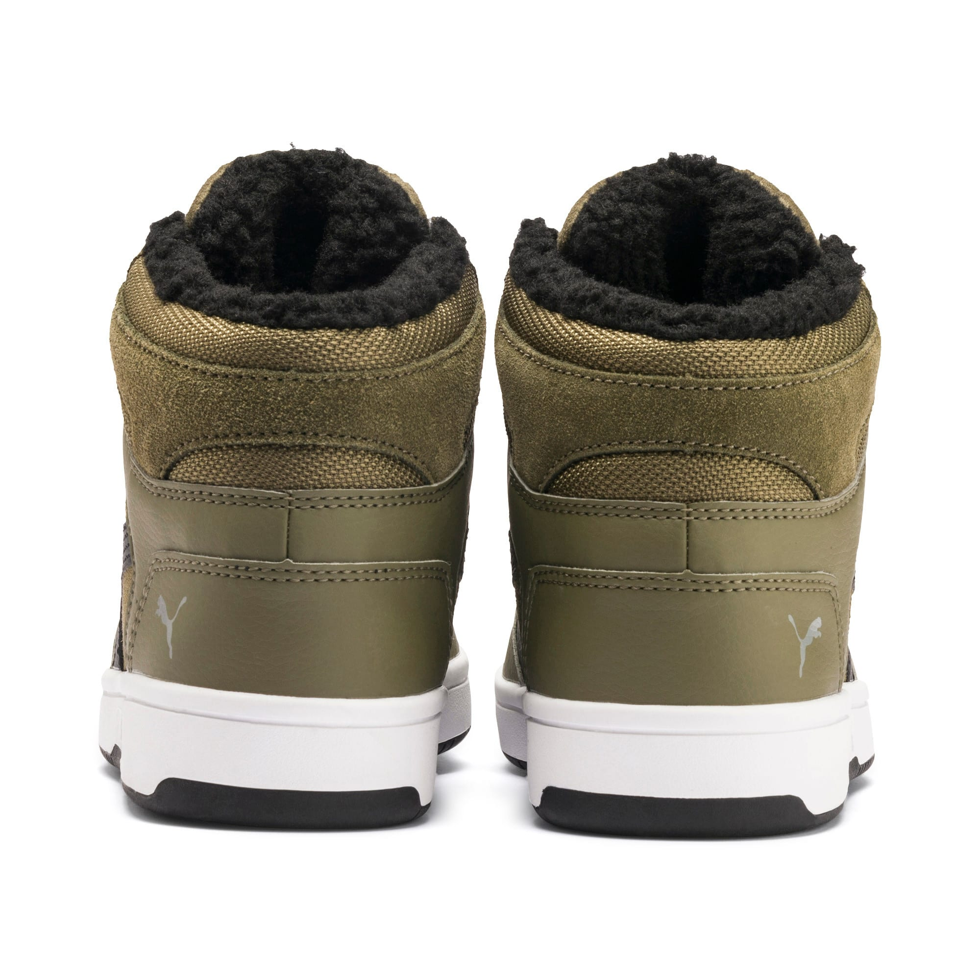 Thumbnail 3 of Rebound Lay-Up Fur SD Youth Sneaker, B Olive-Black-Limestone-Wht, medium