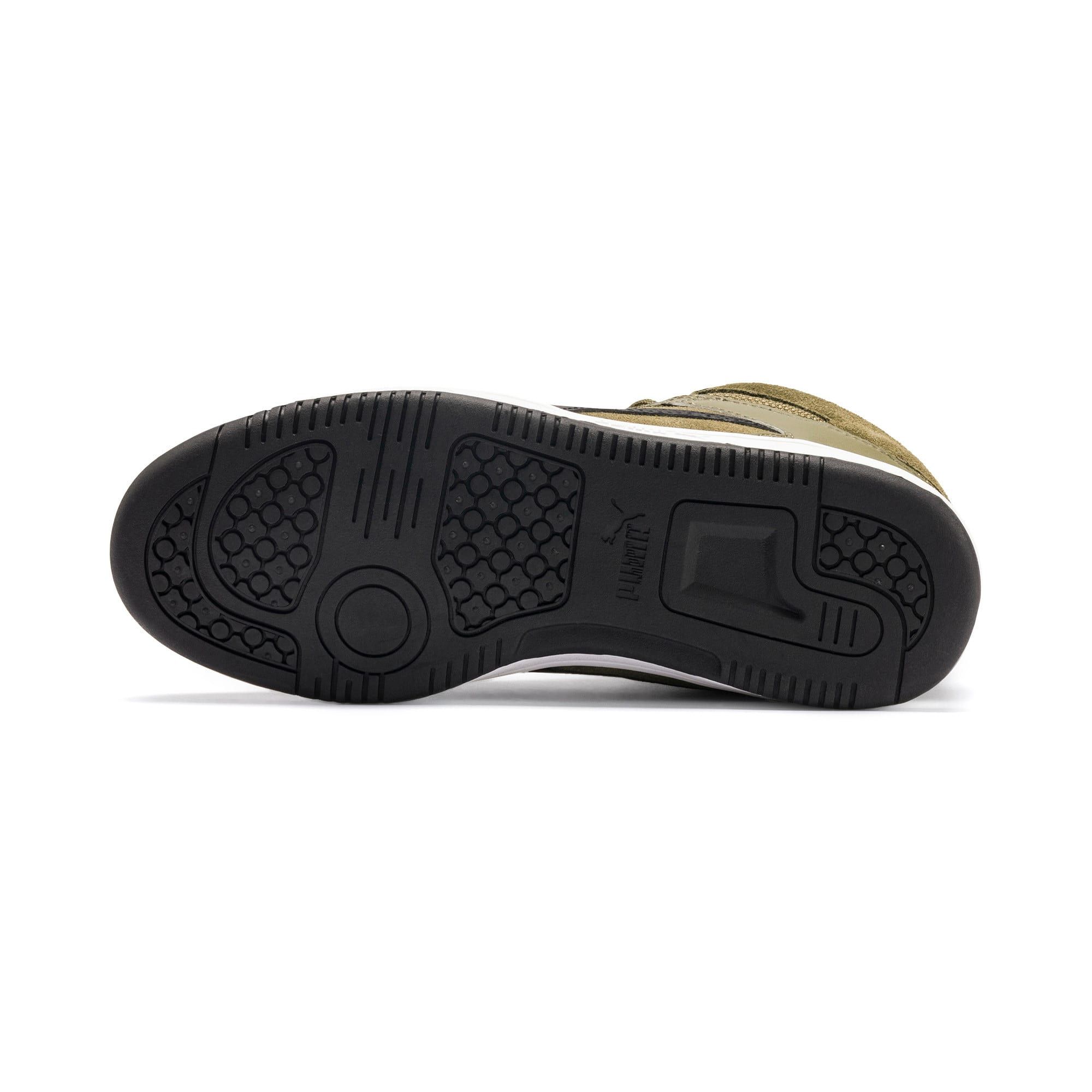 Thumbnail 4 of Rebound Lay-Up Fur SD Youth Sneaker, B Olive-Black-Limestone-Wht, medium