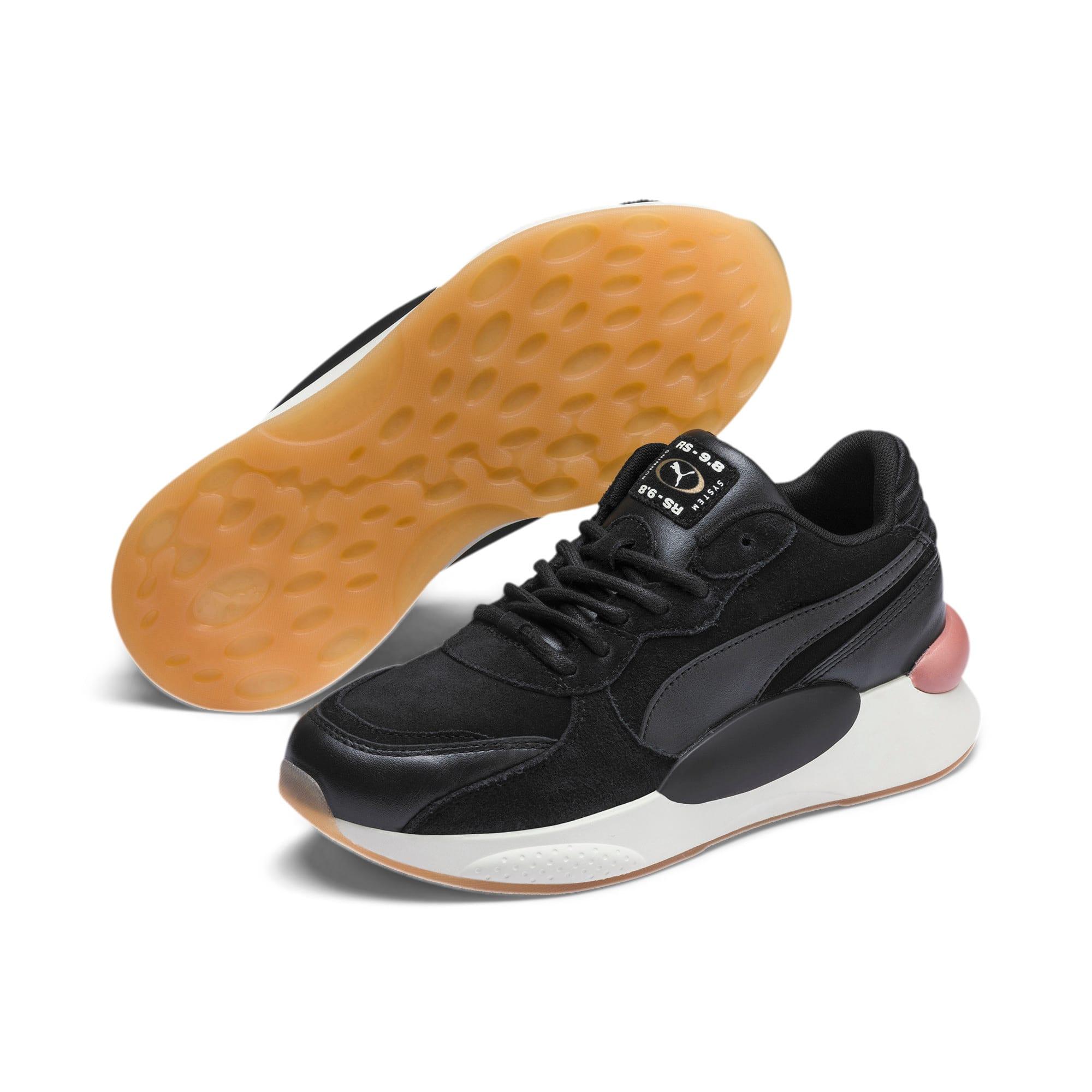 Thumbnail 3 of RS 9.8 Metallic Women's Sneakers, Puma Black Heather, medium