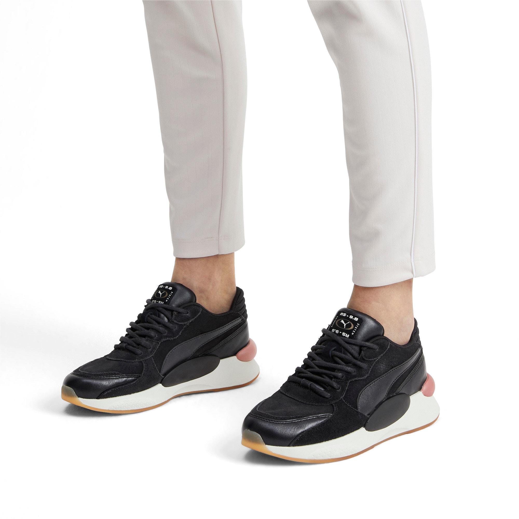 Thumbnail 2 of RS 9.8 Metallic Women's Sneakers, Puma Black Heather, medium