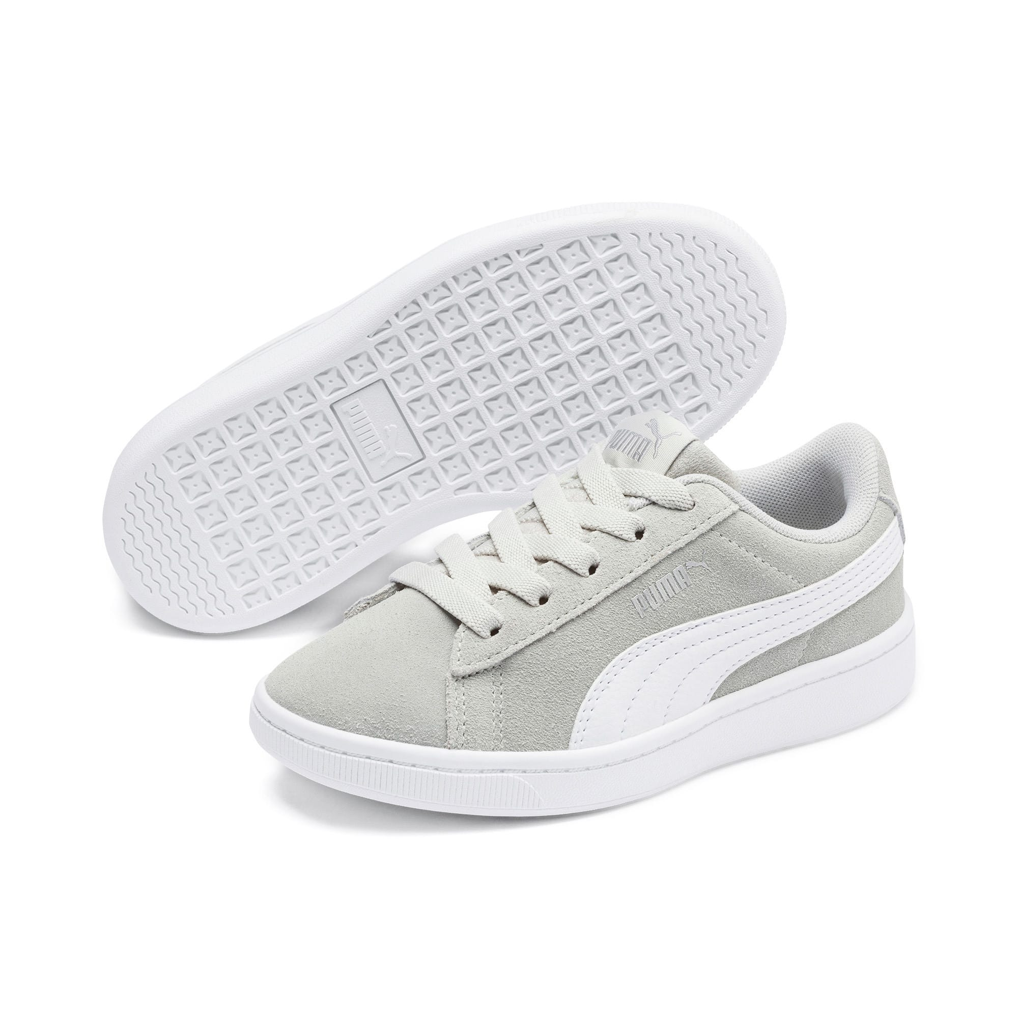 Thumbnail 2 of PUMA Vikky v2 Suede AC Sneakers PS, Gray Violet-White-Silver, medium