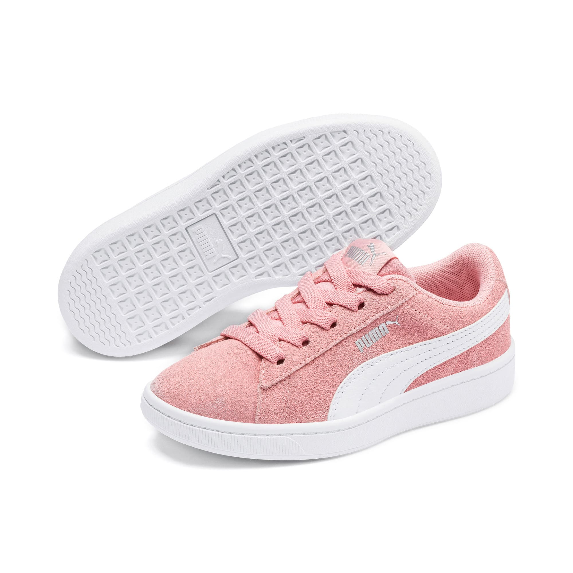 Thumbnail 2 of PUMA Vikky v2 Suede AC Sneakers PS, Bridal Rose-White-Silver, medium