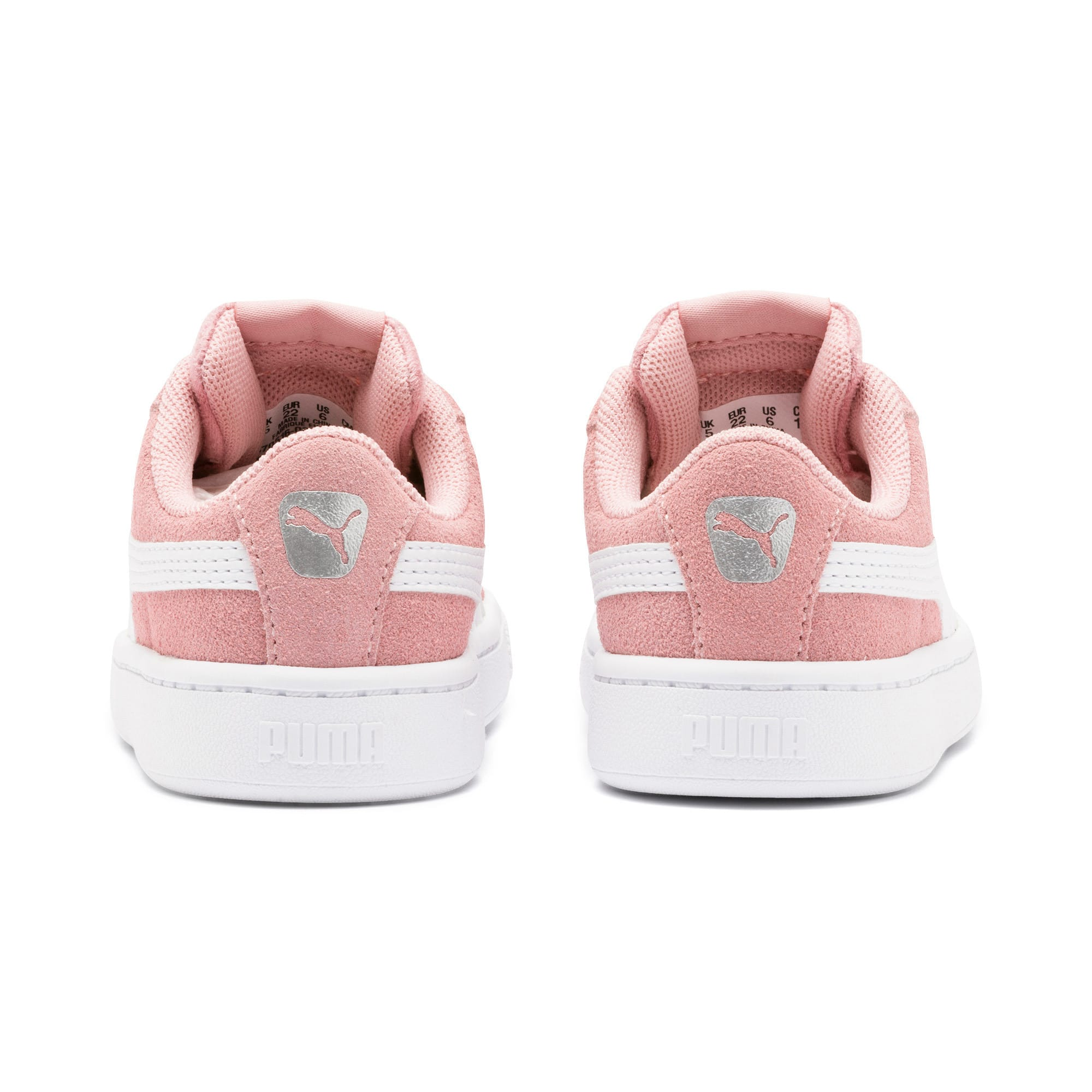 Thumbnail 3 of PUMA Vikky v2 Suede AC Sneakers INF, Bridal Rose-White-Silver, medium