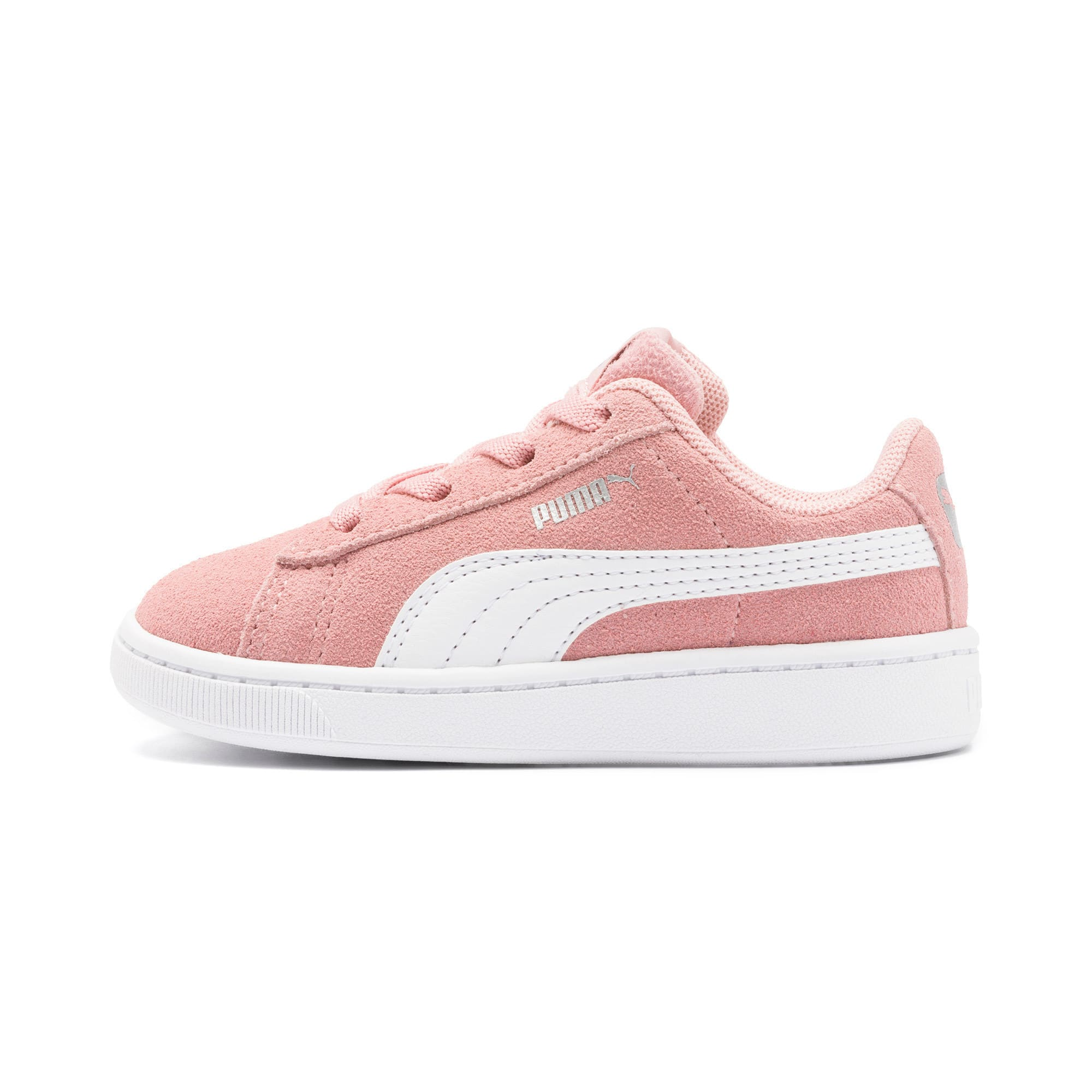 Thumbnail 1 of PUMA Vikky v2 Suede AC Sneakers INF, Bridal Rose-White-Silver, medium