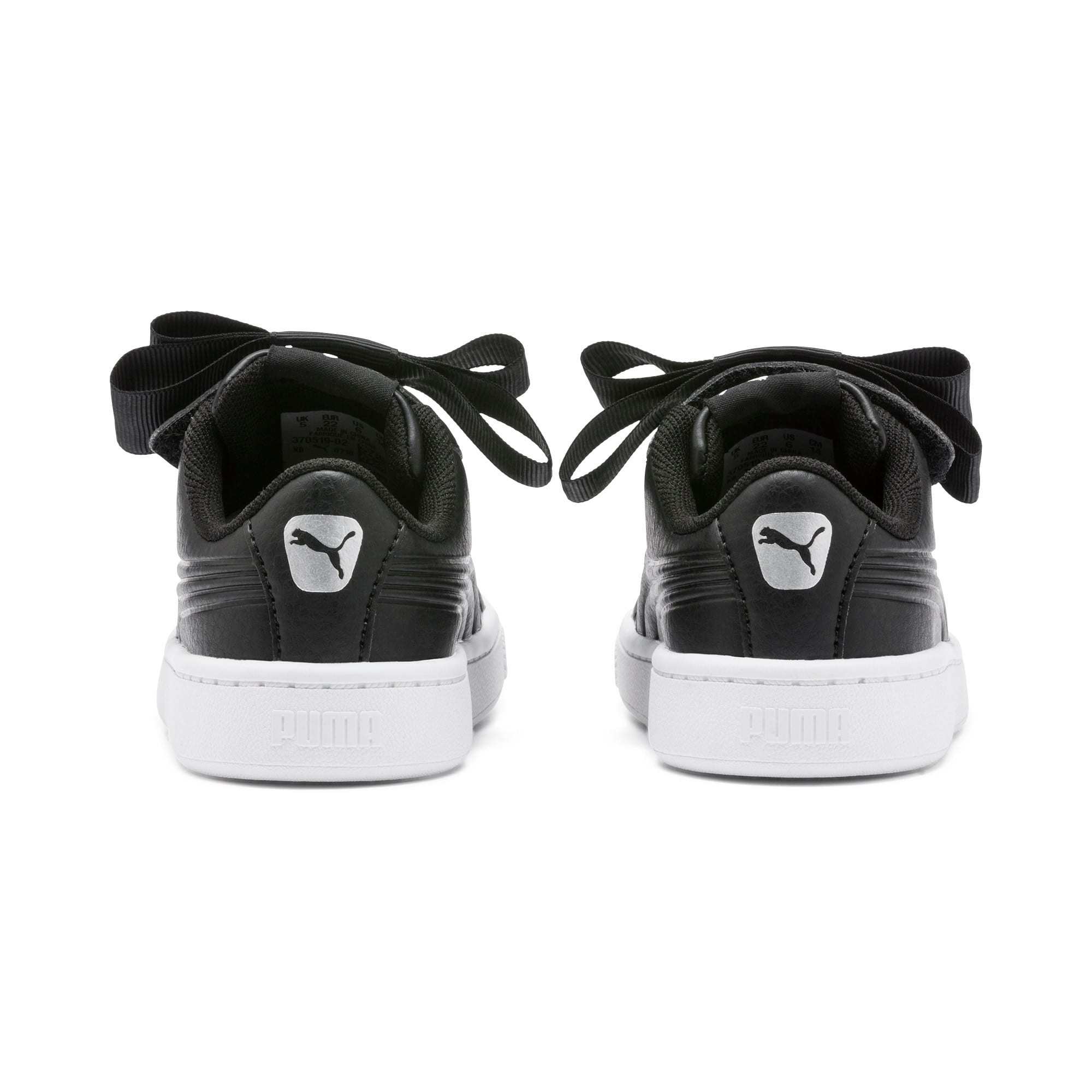 Thumbnail 3 of Vikky v2 Ribbon SL AC Babies' Trainers, Puma Black-Puma Silver-White, medium