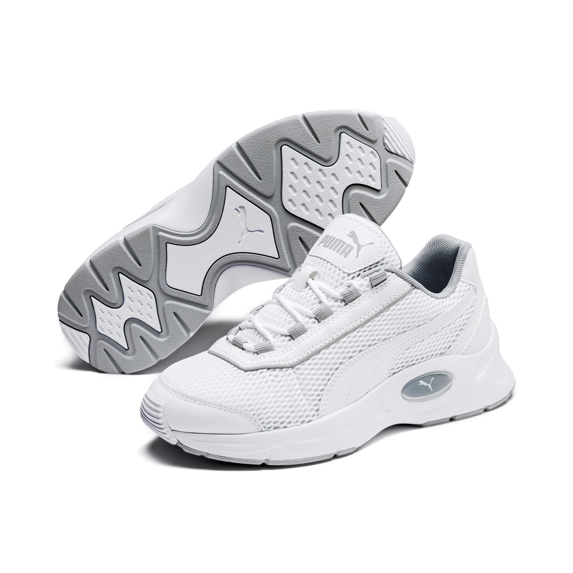 Thumbnail 2 of Nucleus Youth Trainers, Puma White-High Rise, medium