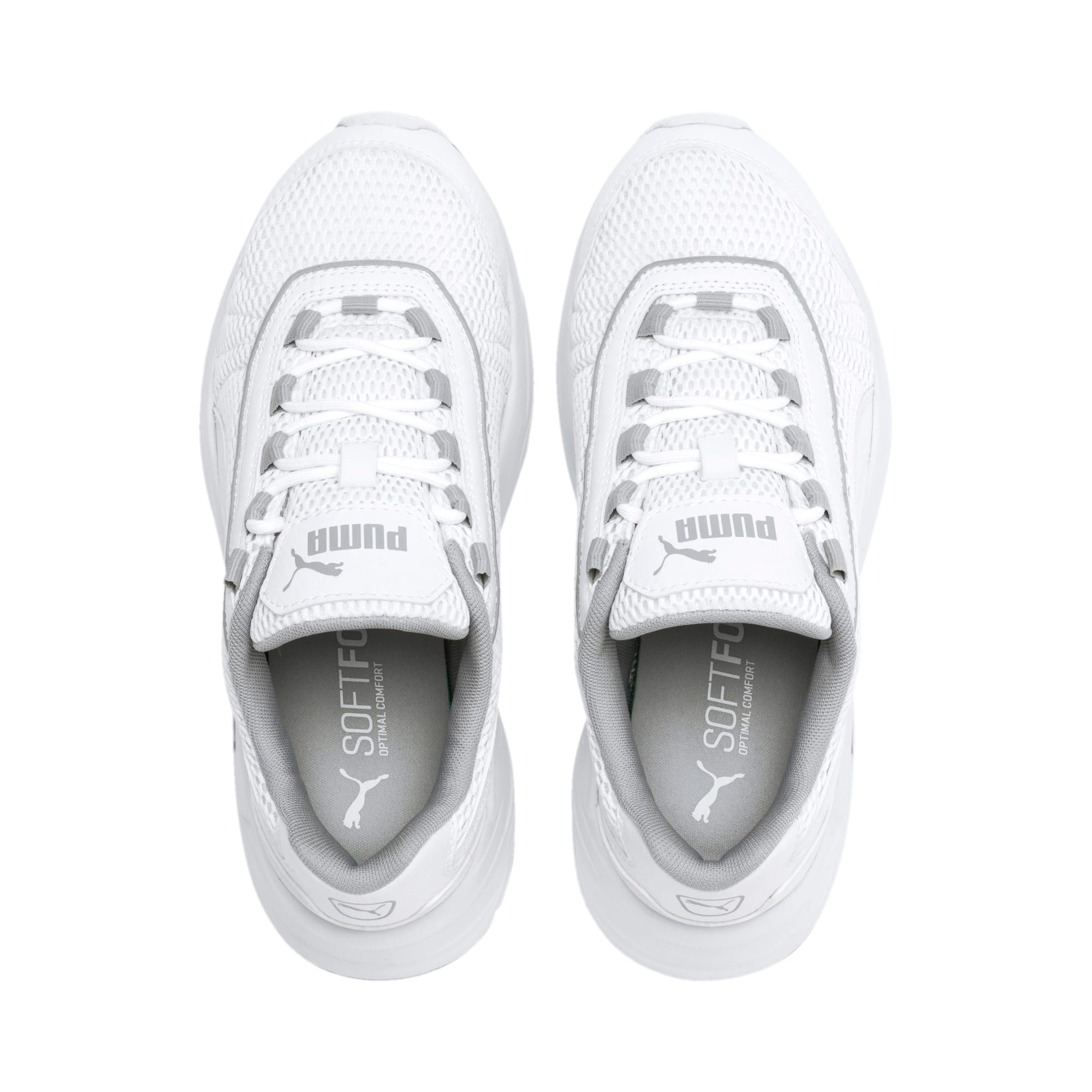 Thumbnail 6 of Nucleus Youth Trainers, Puma White-High Rise, medium