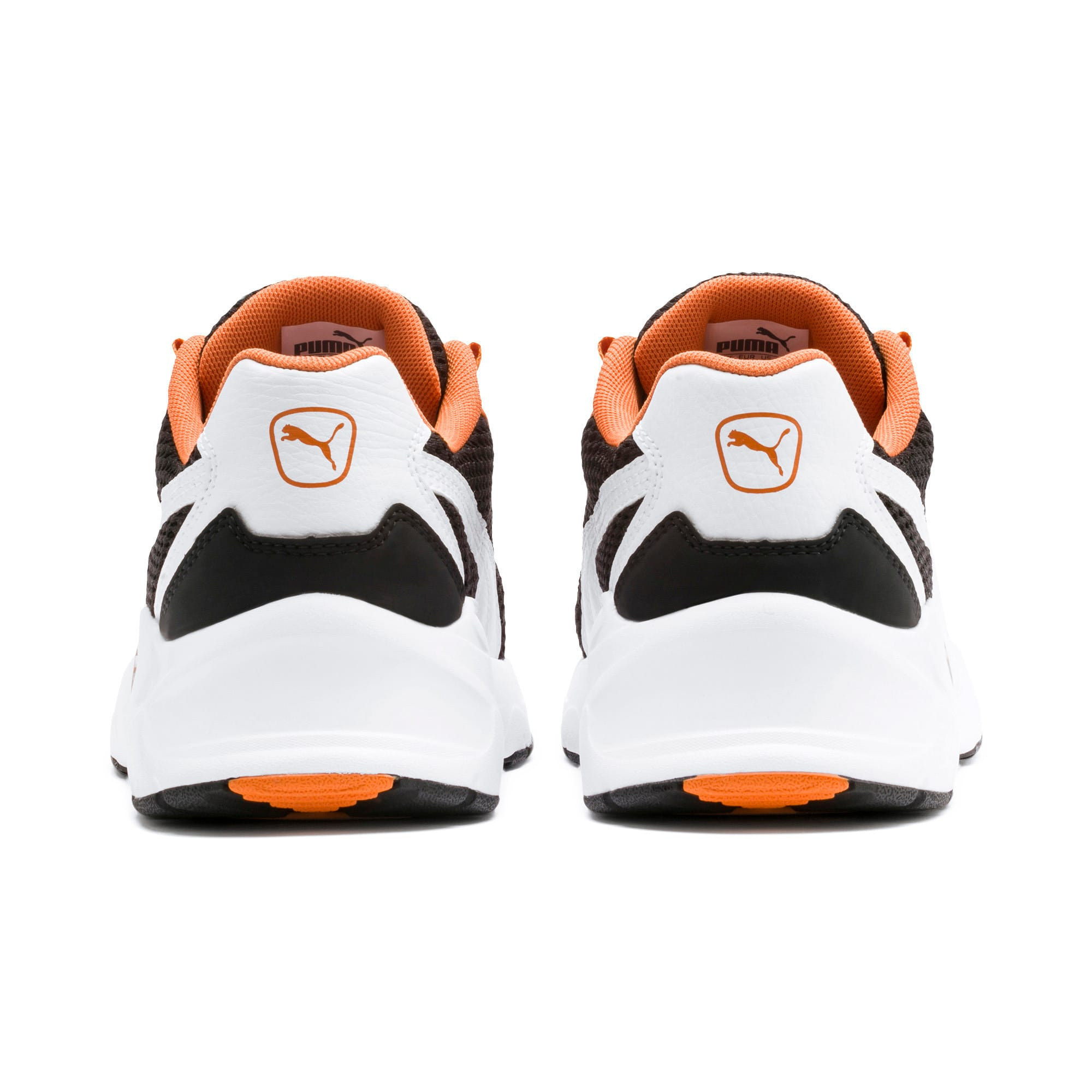 Thumbnail 3 of Nucleus Youth Trainers, Puma White-Jaffa Orange, medium