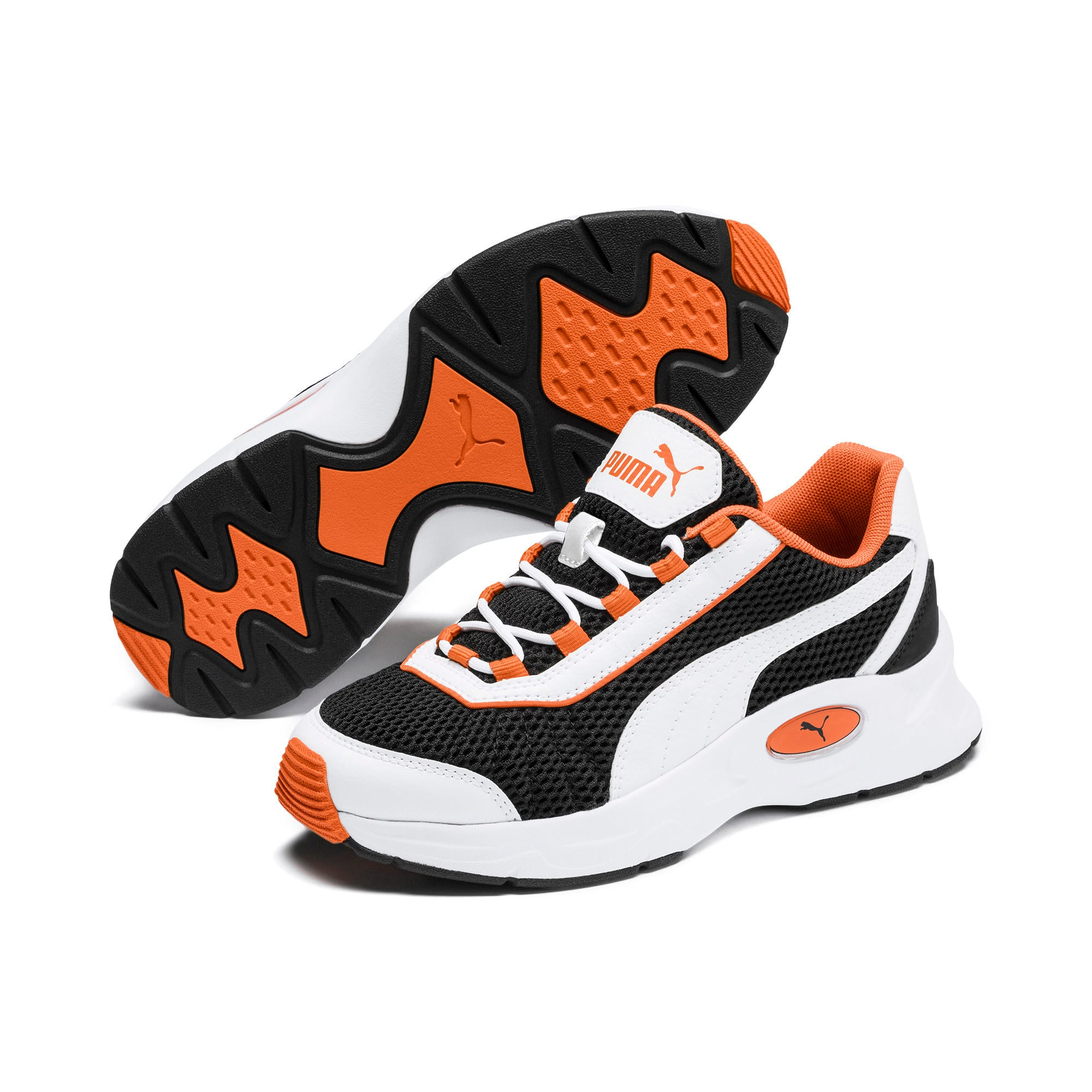 Thumbnail 2 of Nucleus Youth Trainers, Puma White-Jaffa Orange, medium