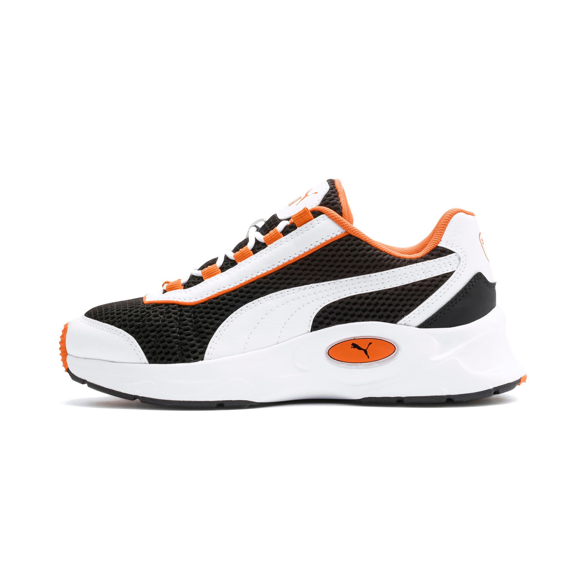 Thumbnail 1 of Nucleus Youth Trainers, Puma White-Jaffa Orange, medium