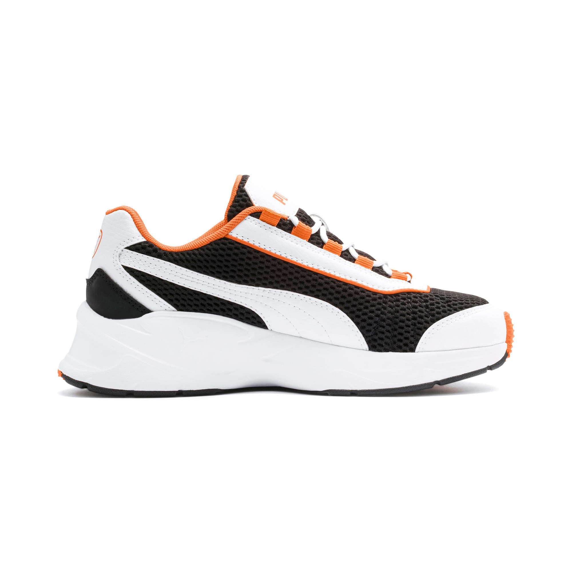 Thumbnail 5 of Nucleus Youth Trainers, Puma White-Jaffa Orange, medium