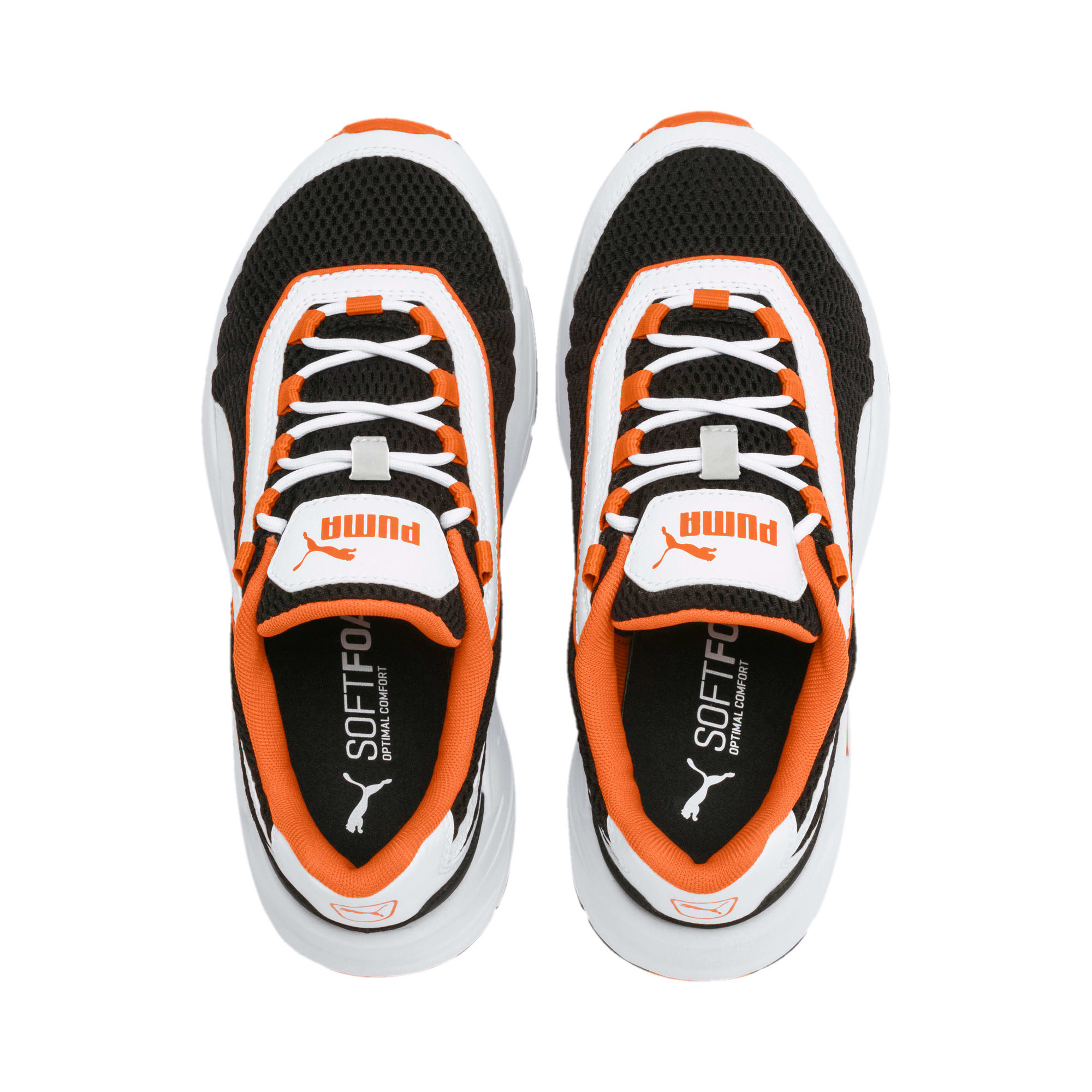 Thumbnail 6 of Nucleus Youth Trainers, Puma White-Jaffa Orange, medium