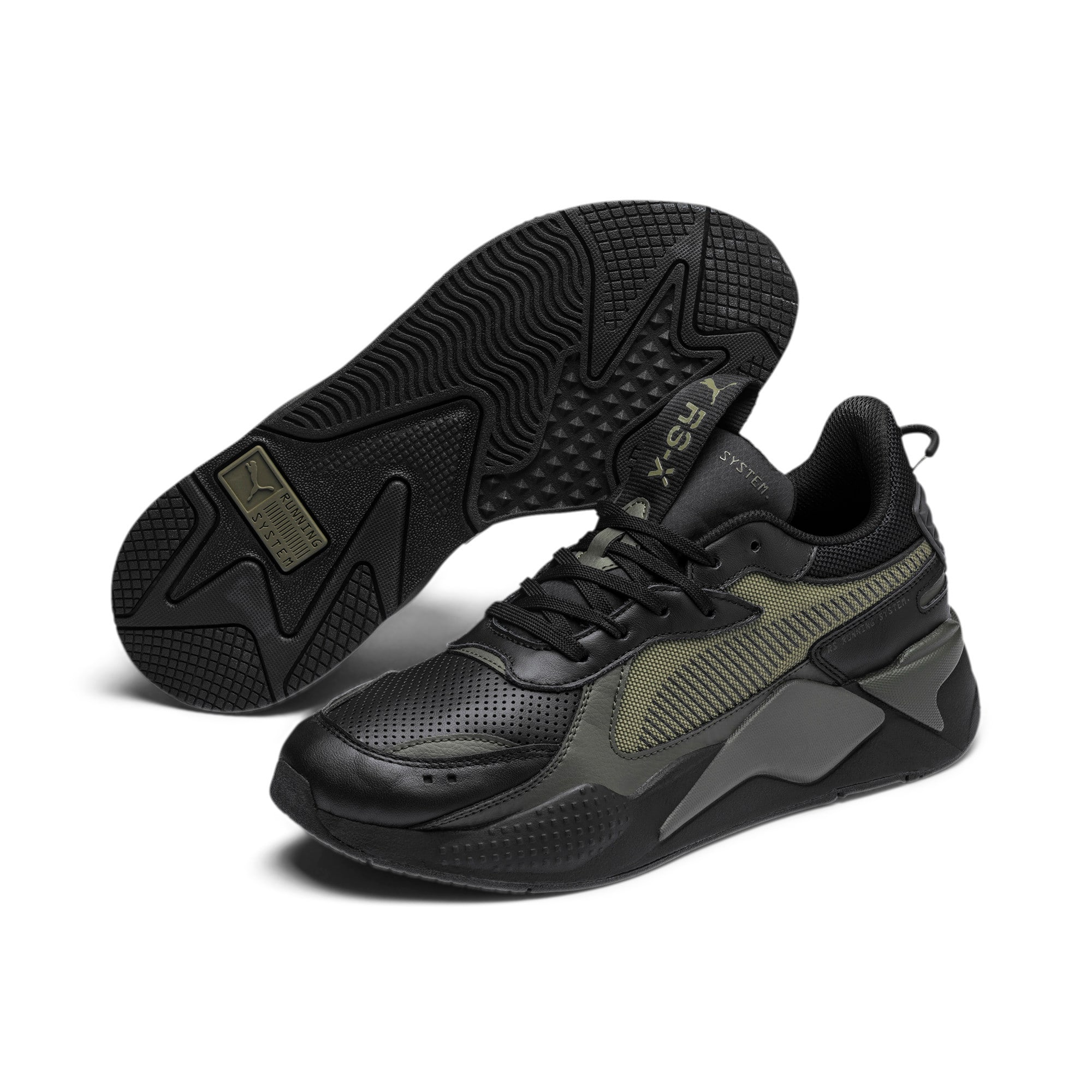 Thumbnail 3 of RS-X Winterized Sneakers, Puma Black-Burnt Olive, medium