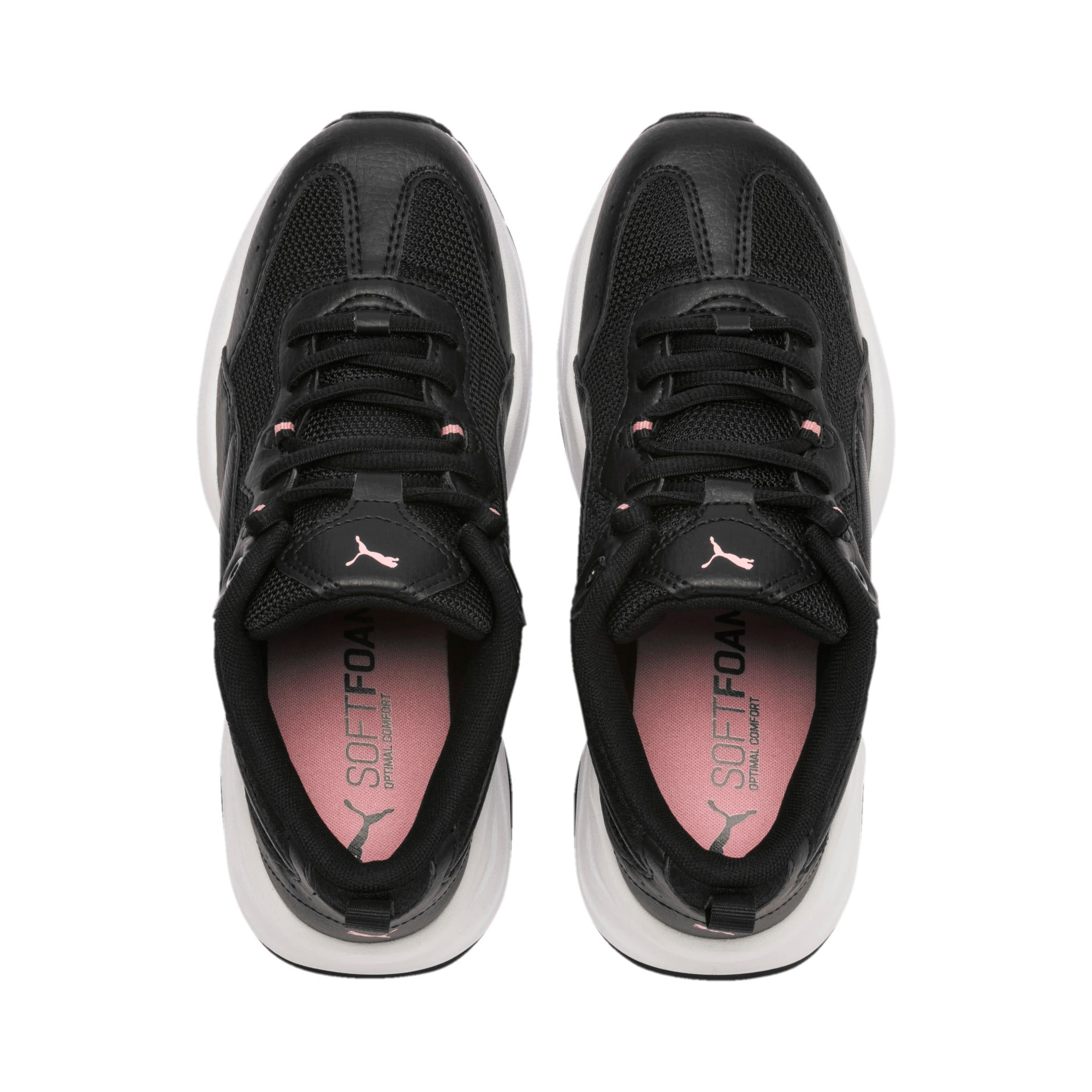 Thumbnail 6 of Cilia Youth Trainers, Black-Silver-Bridal Rose, medium-IND