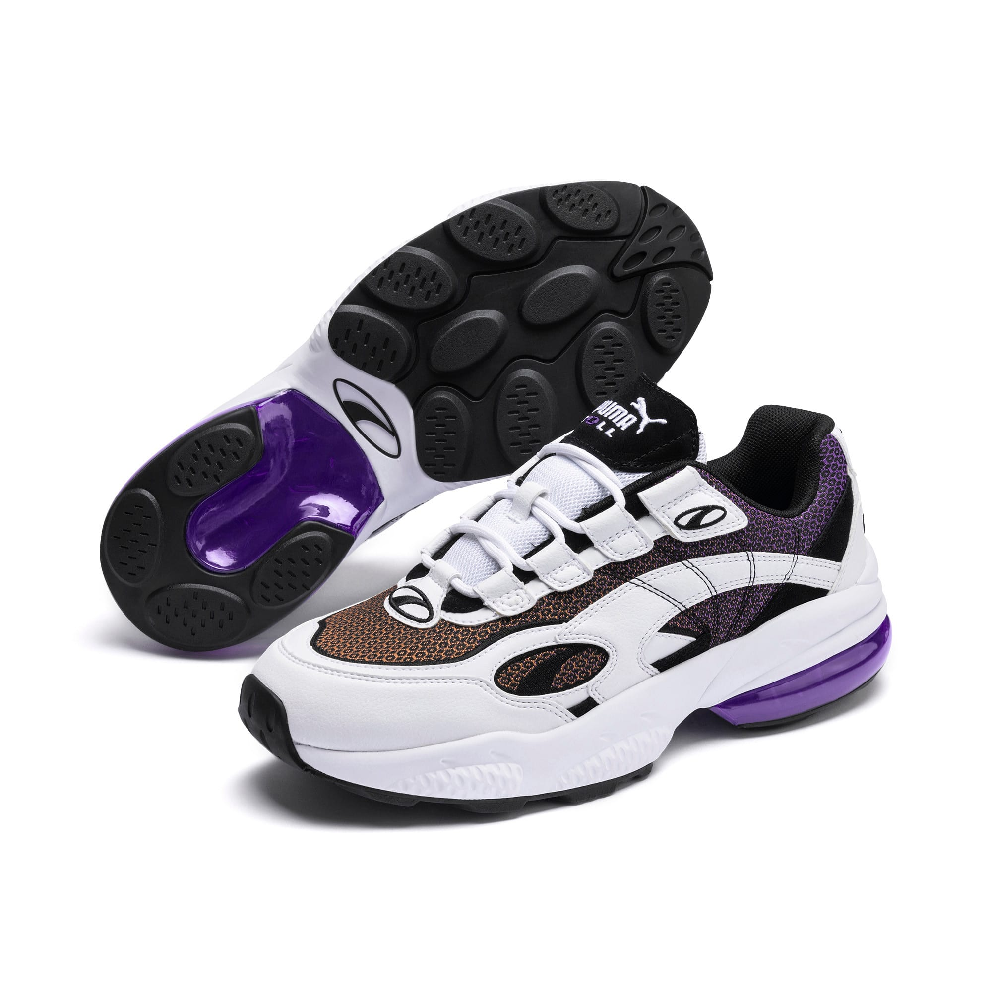Thumbnail 3 of CELL Venom Lux Sneaker, Puma White-Purple Glimmer, medium