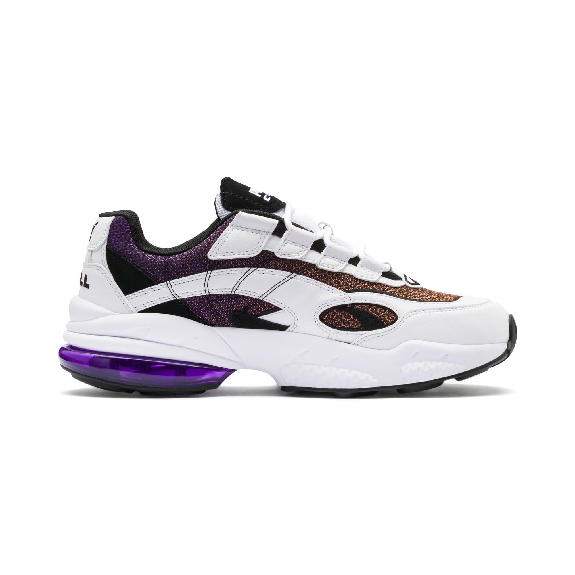Thumbnail 6 of CELL Venom Lux Sneaker, Puma White-Purple Glimmer, medium
