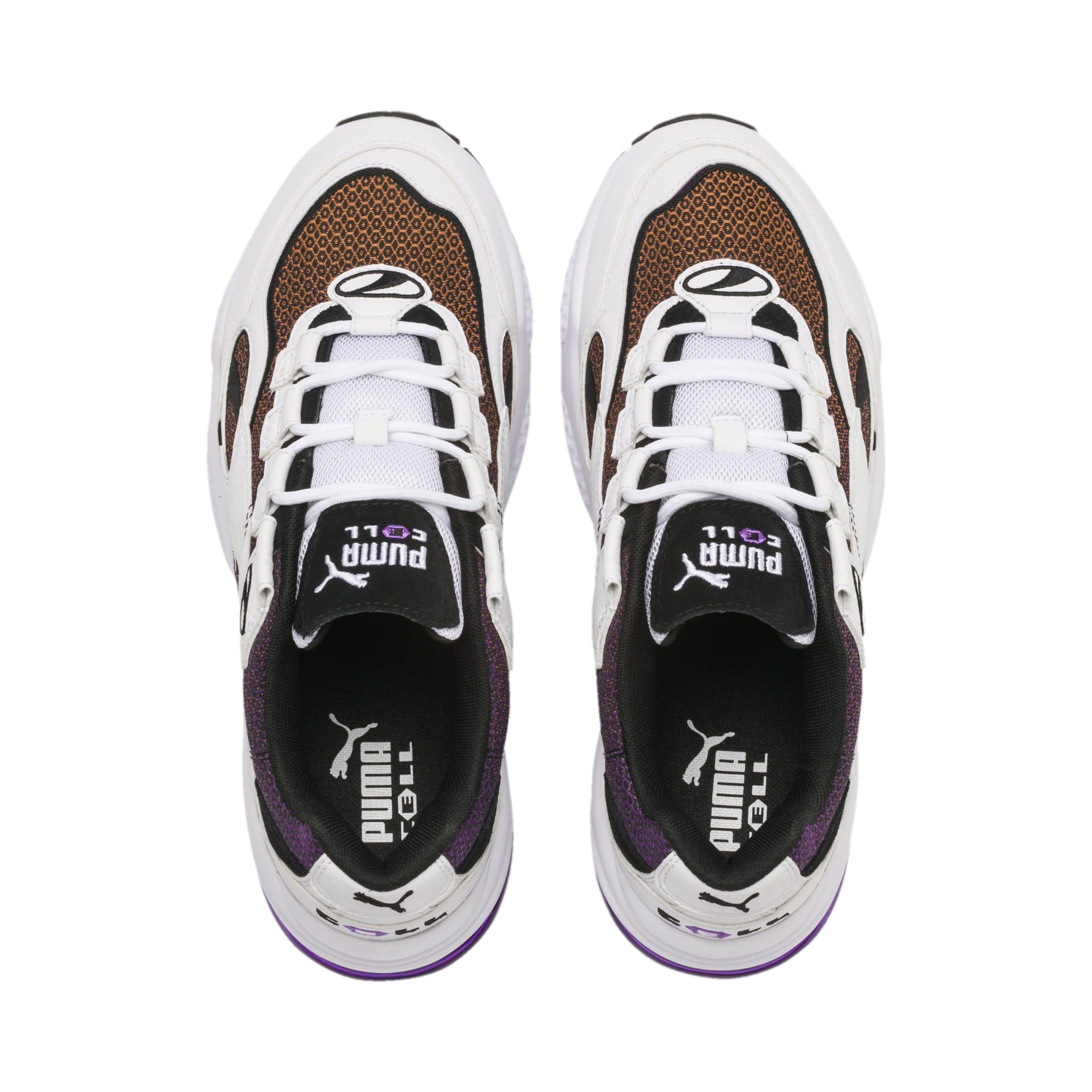 Thumbnail 7 of CELL Venom Lux Sneaker, Puma White-Purple Glimmer, medium