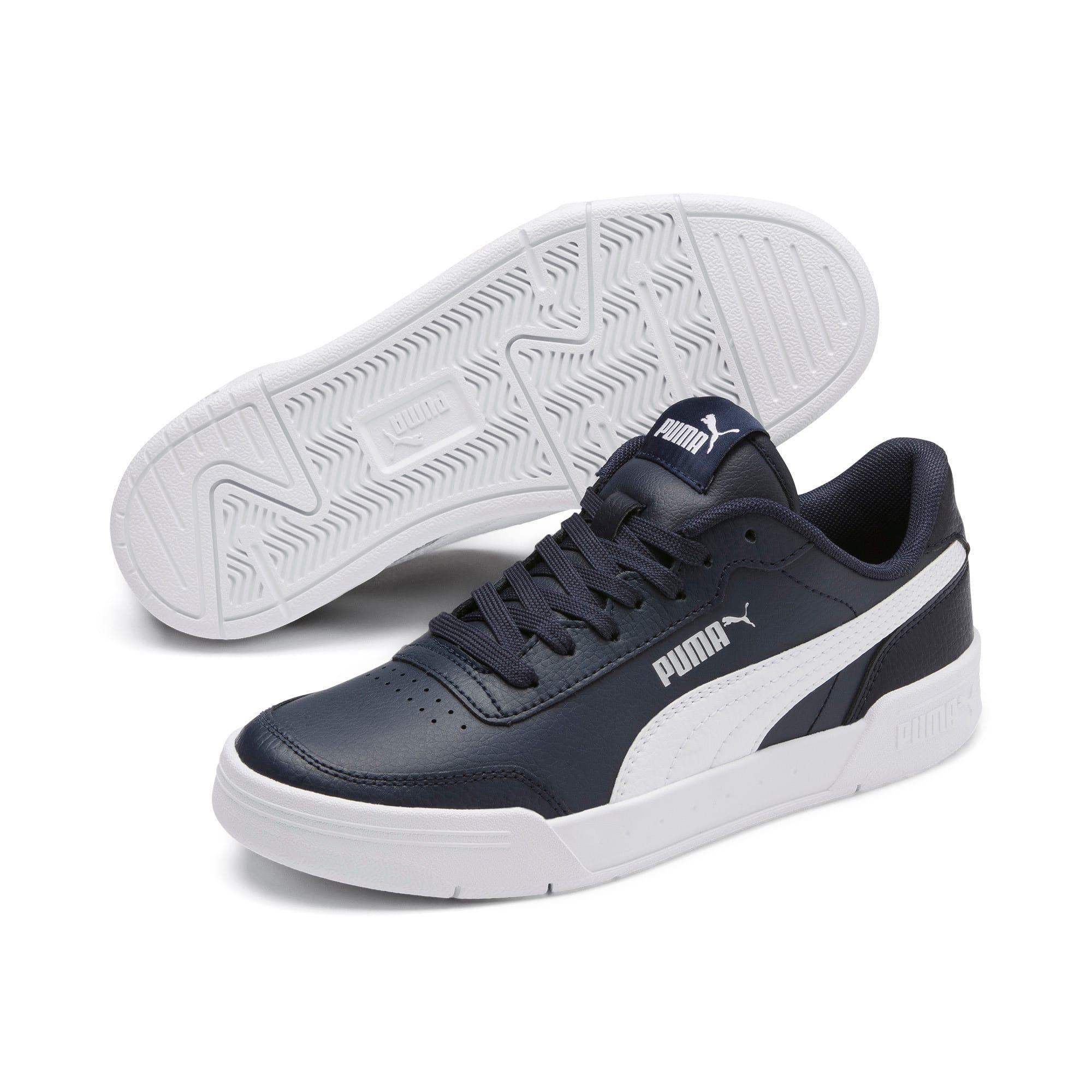 Thumbnail 2 of Caracal Youth Trainers, Peacoat-P. White-Puma Silver, medium-IND