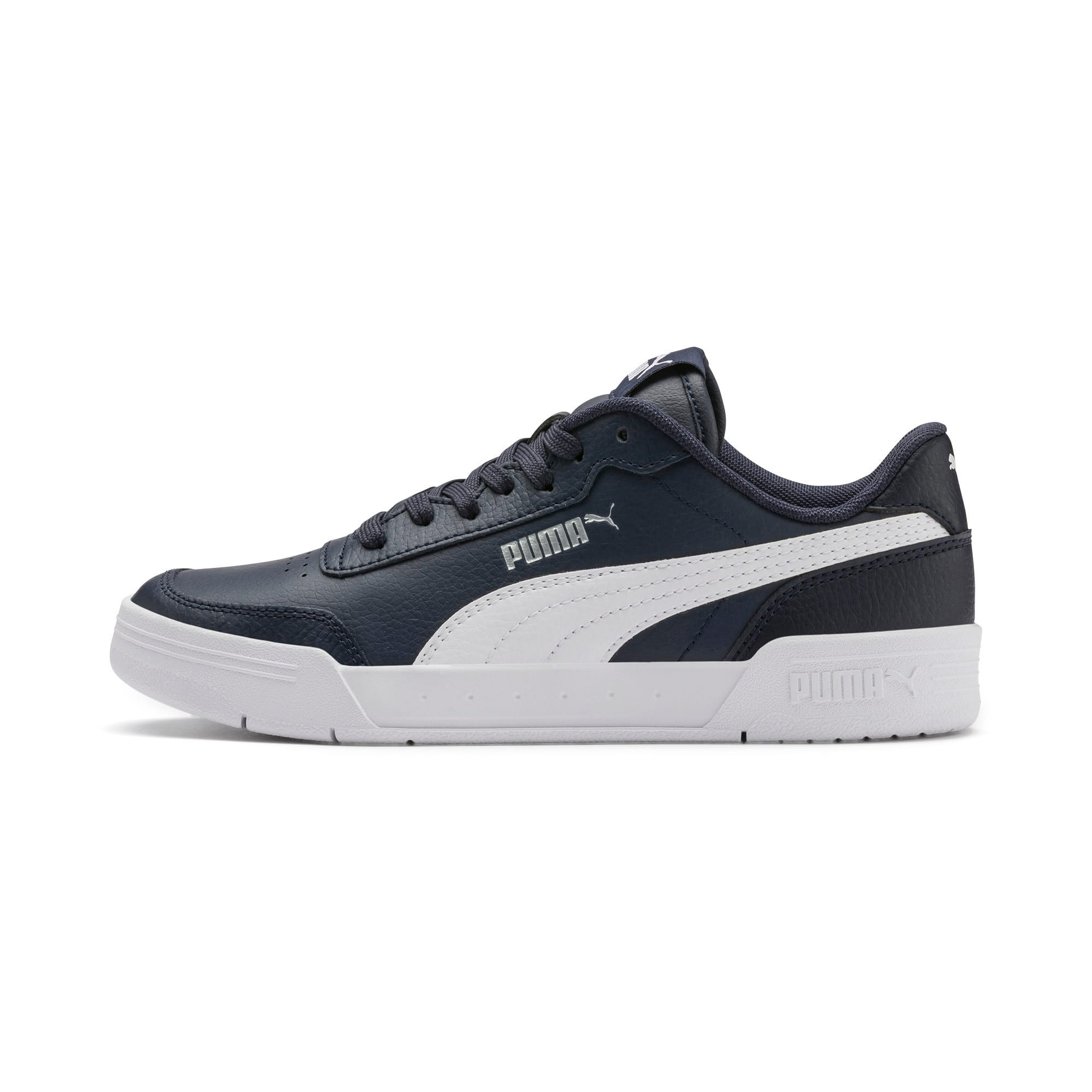 Thumbnail 1 of Caracal Youth Trainers, Peacoat-P. White-Puma Silver, medium-IND
