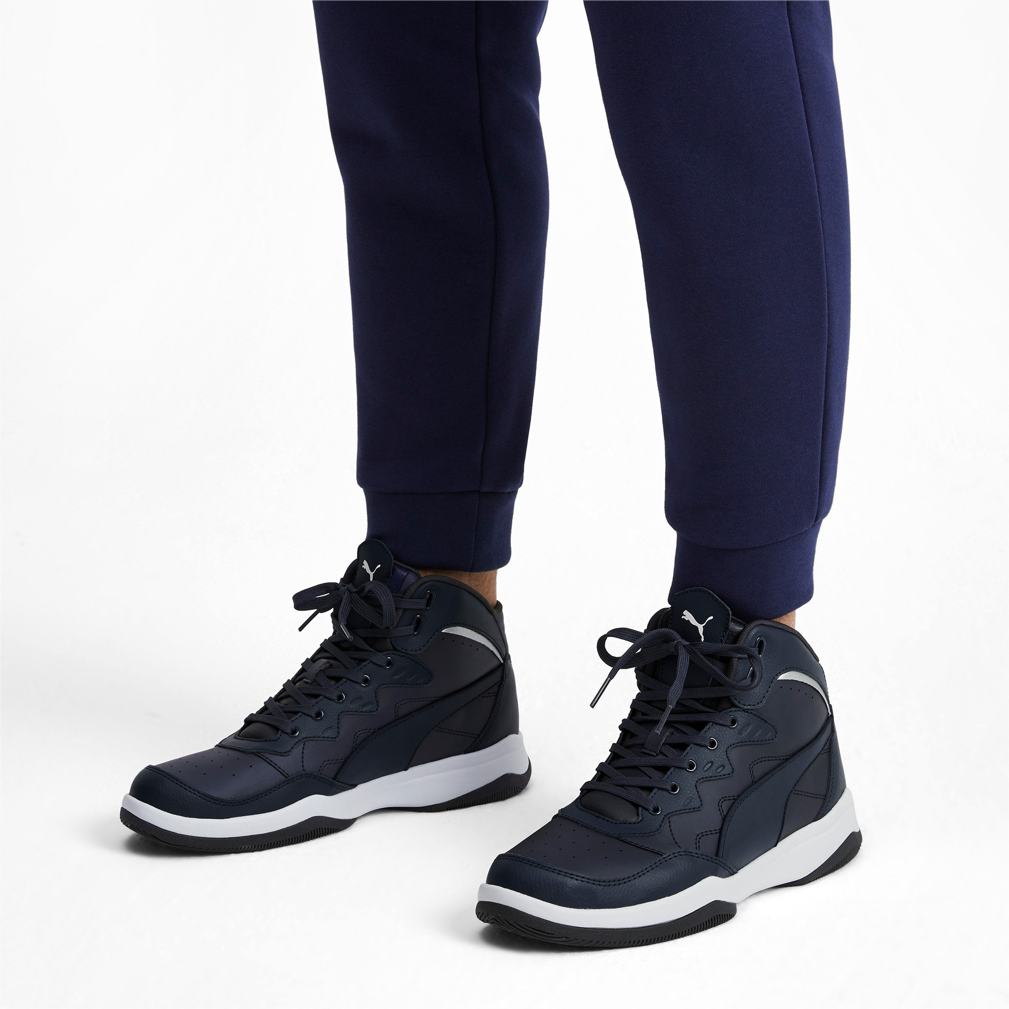 Thumbnail 2 of RB Play-Off Trainers, Peacoat-Puma Silver, medium-IND