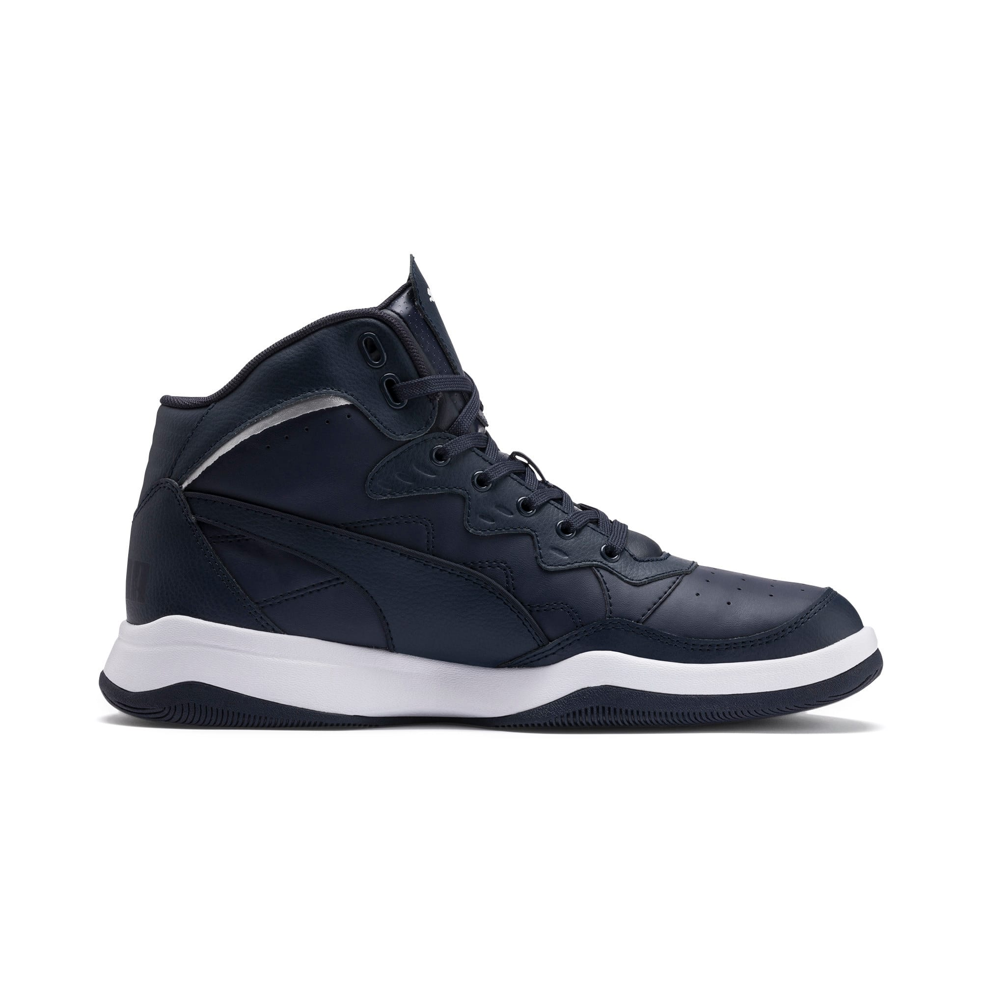 Thumbnail 7 of RB Play-Off Trainers, Peacoat-Puma Silver, medium-IND