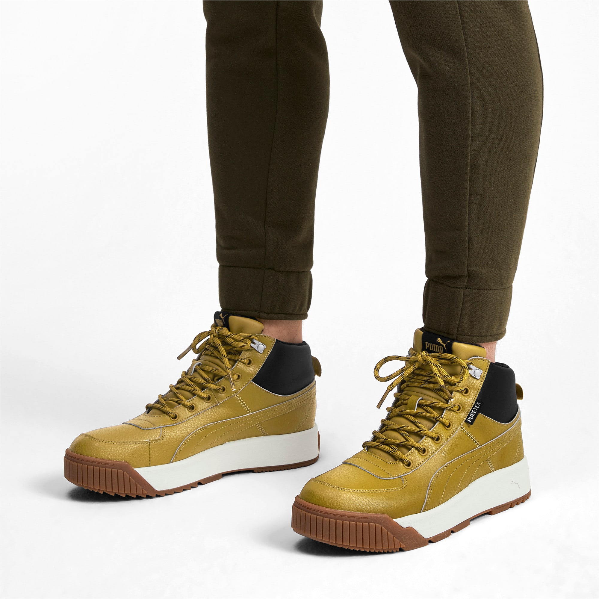 Thumbnail 2 of Tarrenz SB PURETEX Mid Sneakers, Moss Green-Puma Black, medium
