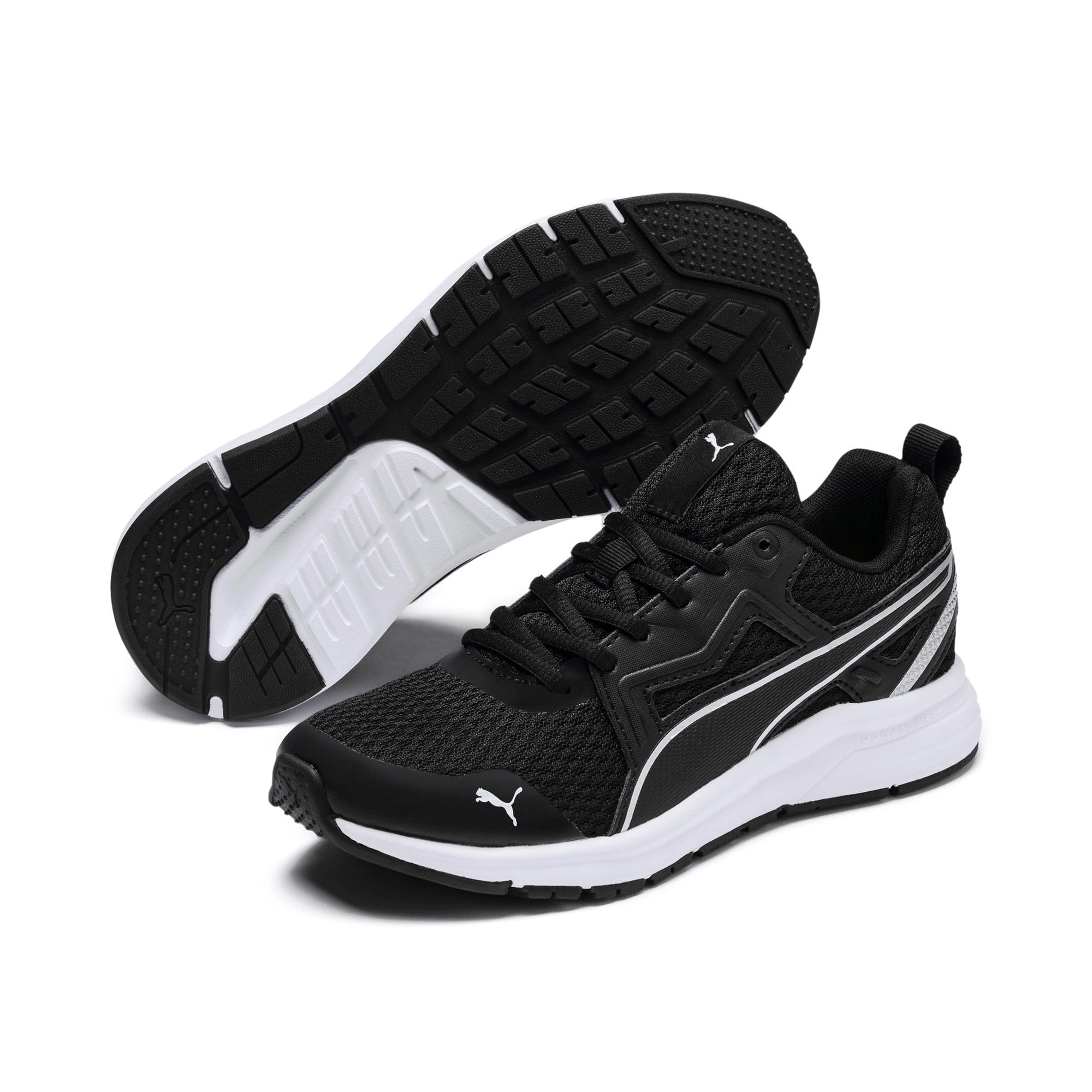 Thumbnail 2 of Pure Jogger Youth Trainers, Black-Silver-Wht-Nrgy Yellow, medium