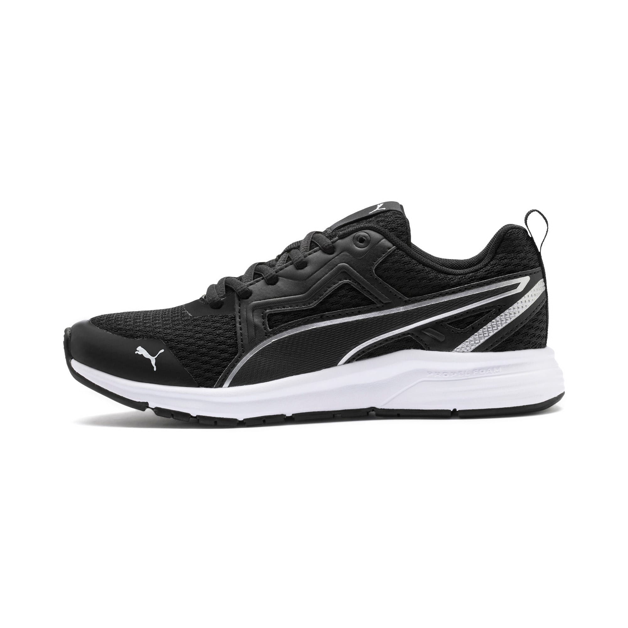Thumbnail 1 of Pure Jogger Youth Trainers, Black-Silver-Wht-Nrgy Yellow, medium