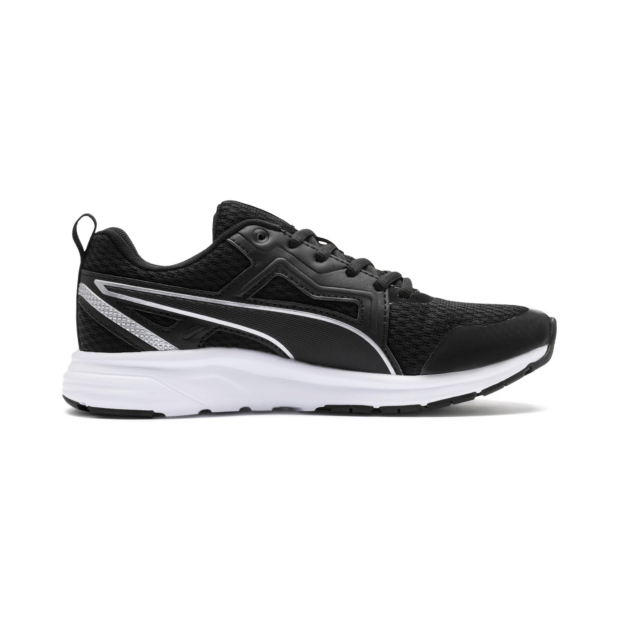 Thumbnail 5 of Pure Jogger Youth Trainers, Black-Silver-Wht-Nrgy Yellow, medium-IND