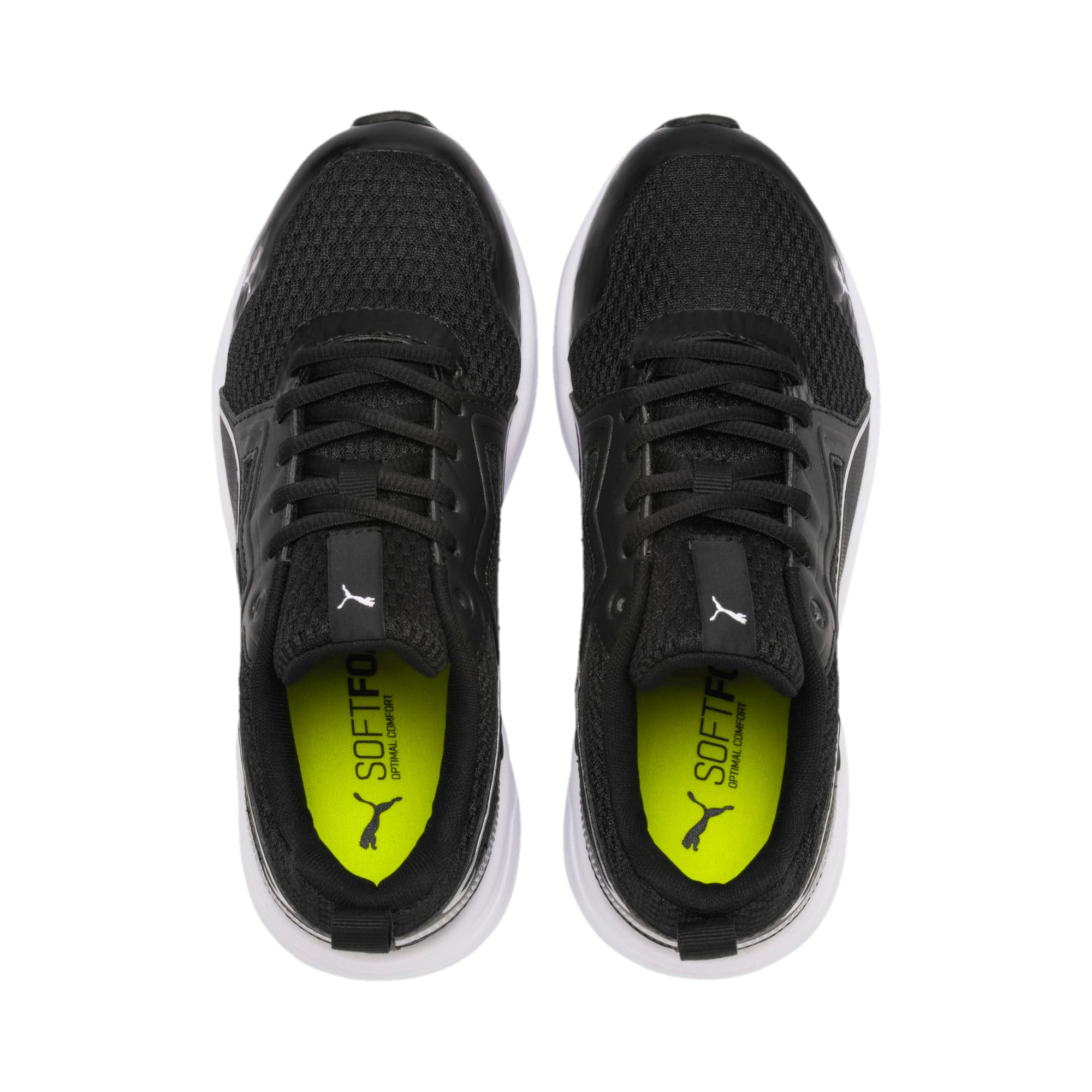 Thumbnail 6 of Pure Jogger Youth Trainers, Black-Silver-Wht-Nrgy Yellow, medium
