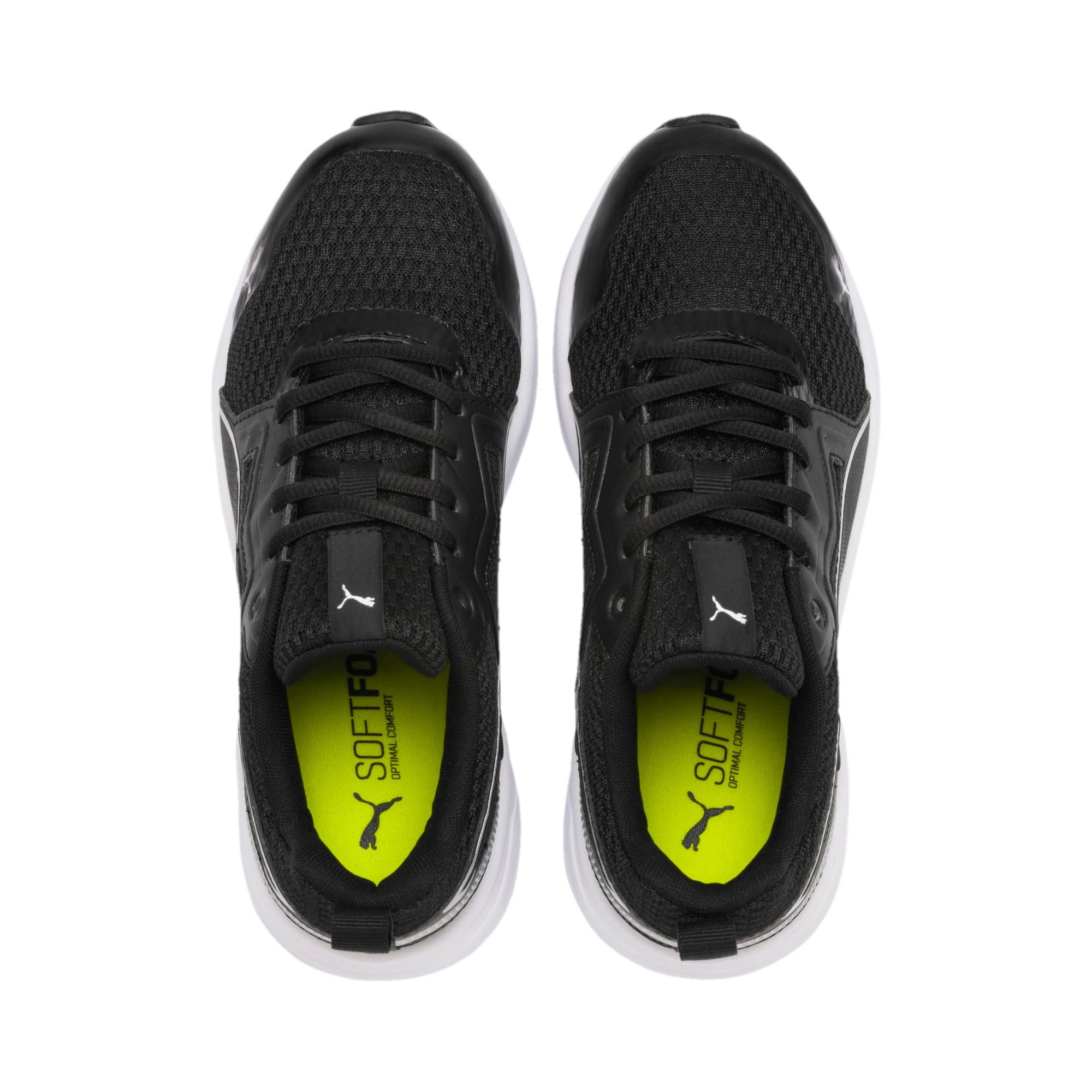 Thumbnail 6 of Pure Jogger Youth Trainers, Black-Silver-Wht-Nrgy Yellow, medium-IND