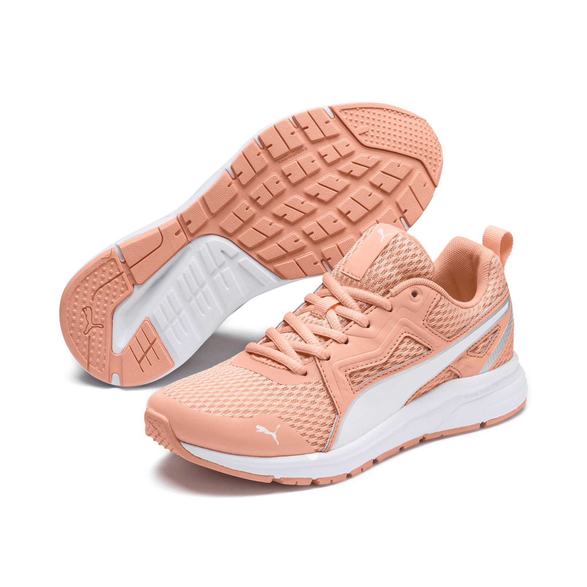 Thumbnail 2 of Pure Jogger Youth Trainers, Peach Parfait-White-Silver, medium