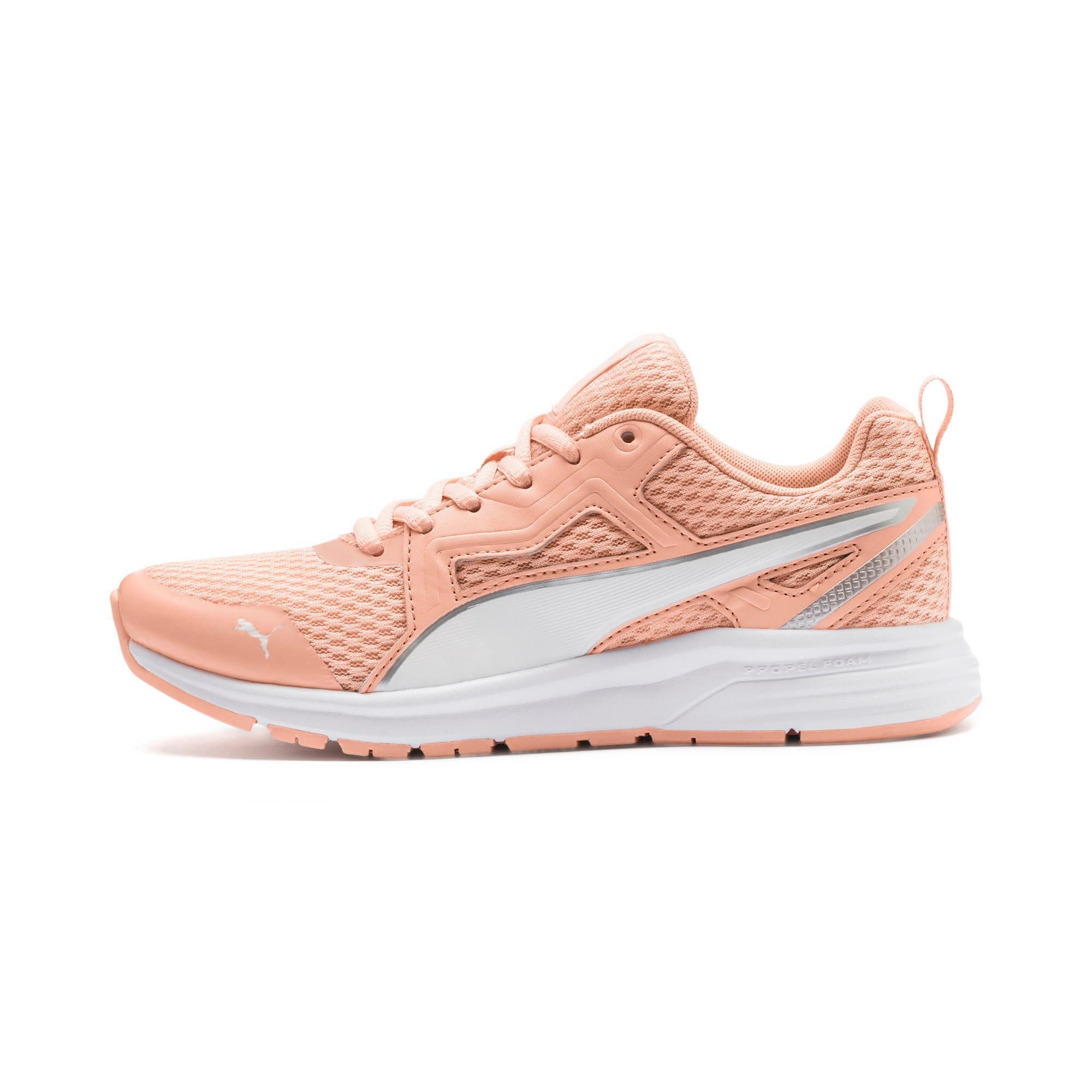 Thumbnail 1 of Pure Jogger Youth Trainers, Peach Parfait-White-Silver, medium