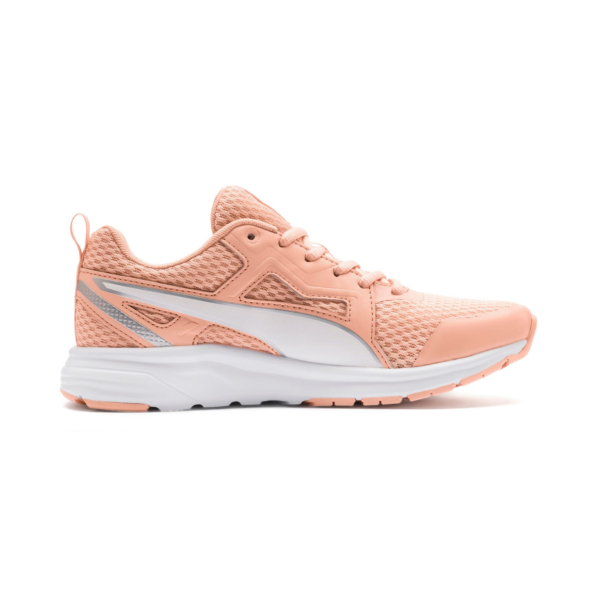 Thumbnail 5 of Pure Jogger Youth Trainers, Peach Parfait-White-Silver, medium