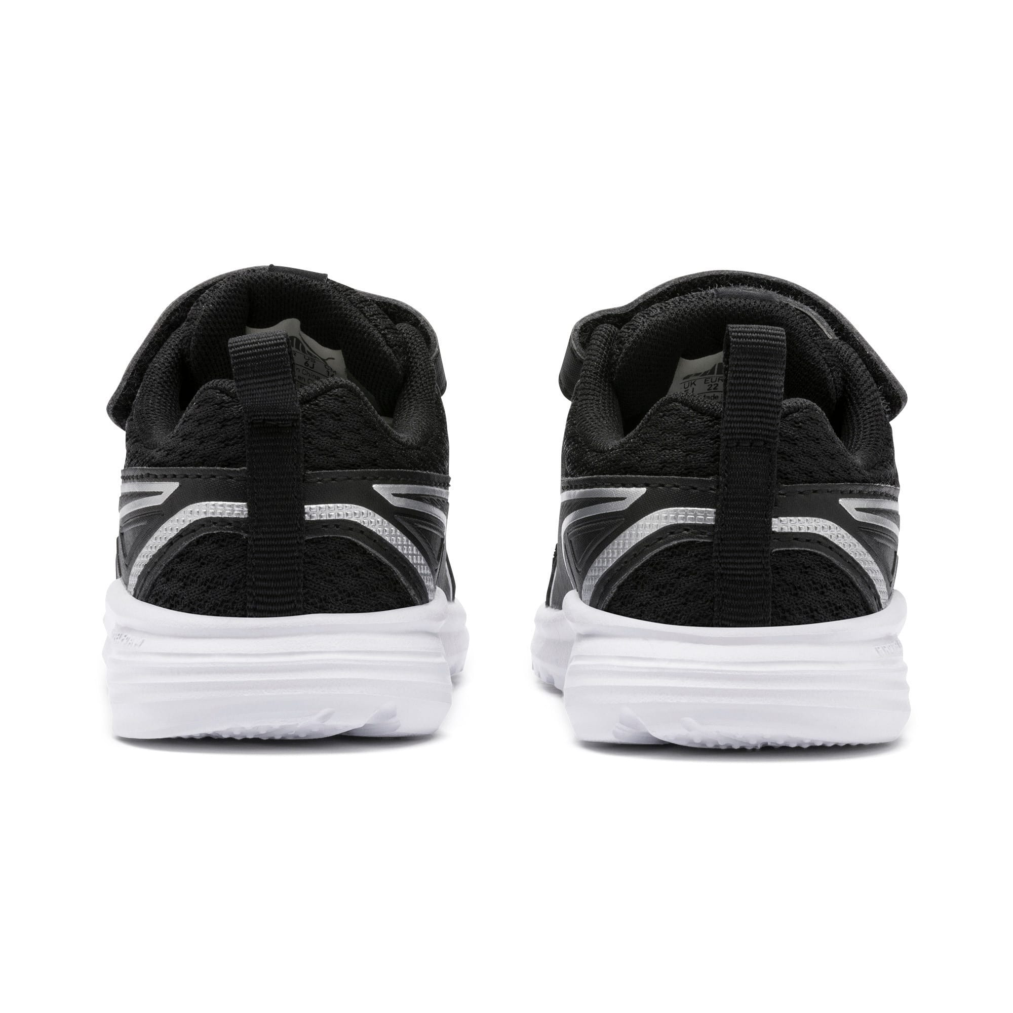 Thumbnail 3 of Pure Jogger Babies' Trainers, Black-Silver-Wht-Nrgy Yellow, medium