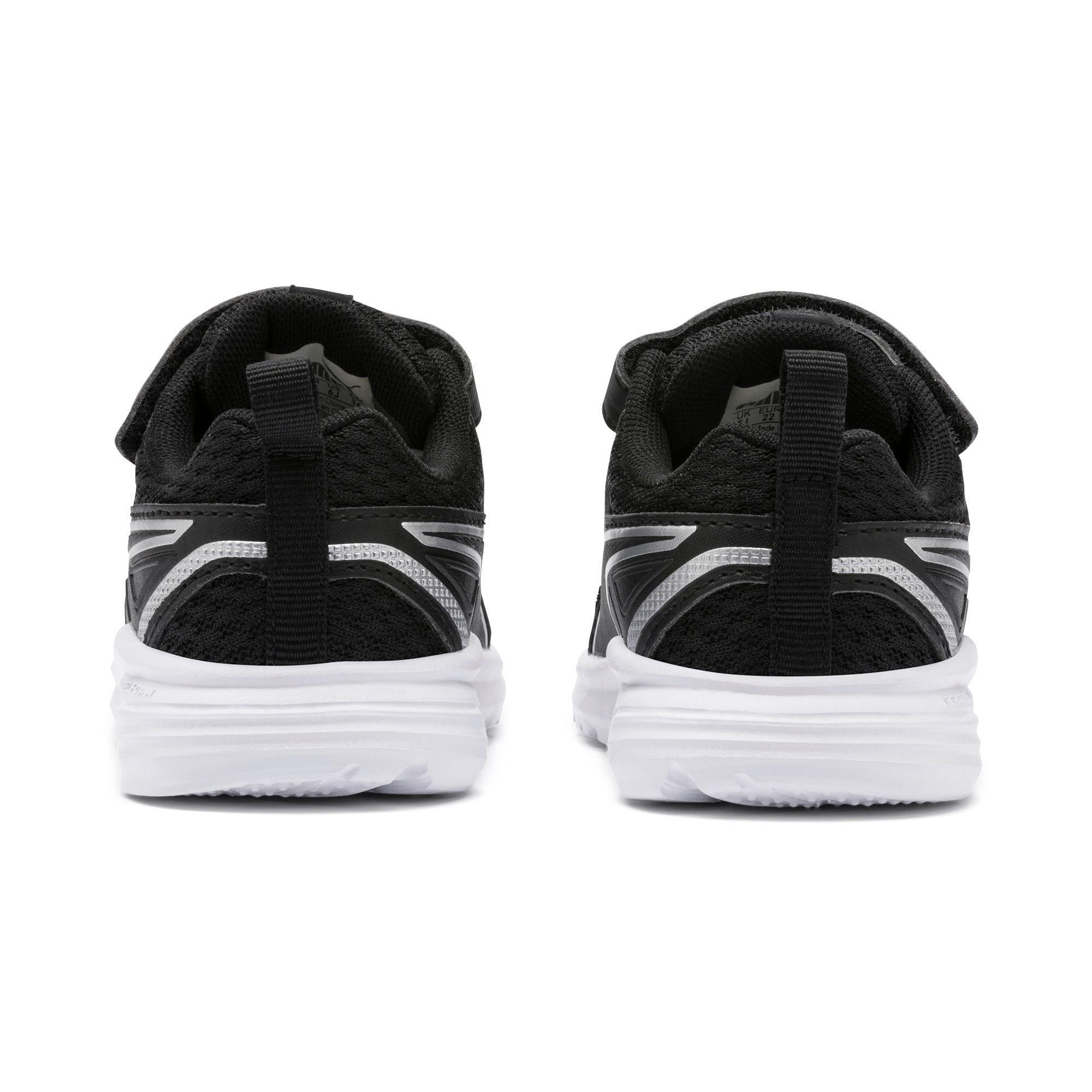 Thumbnail 3 of Pure Jogger Babies Sneaker, Black-Silver-Wht-Nrgy Yellow, medium