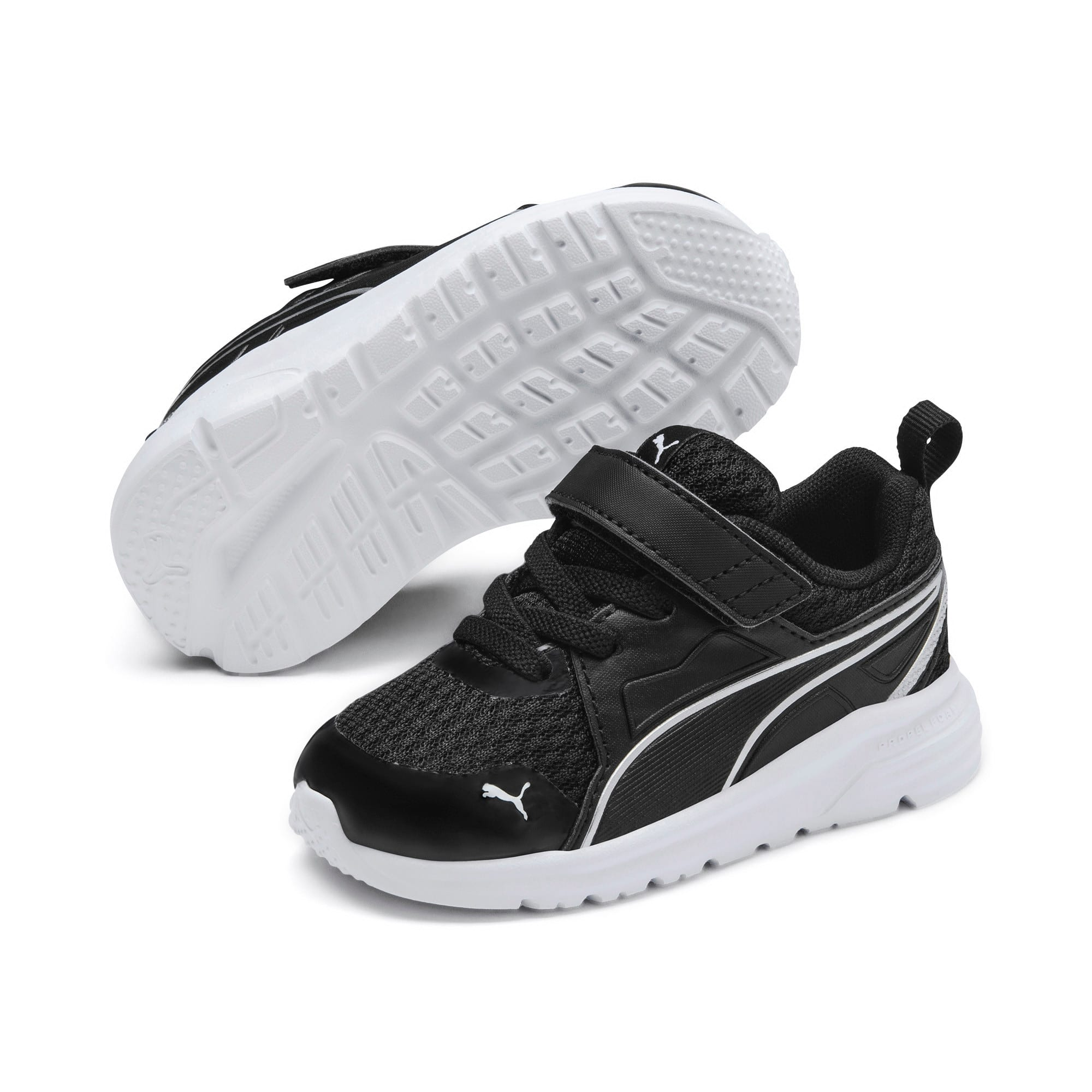 Thumbnail 2 of Pure Jogger Babies' Trainers, Black-Silver-Wht-Nrgy Yellow, medium