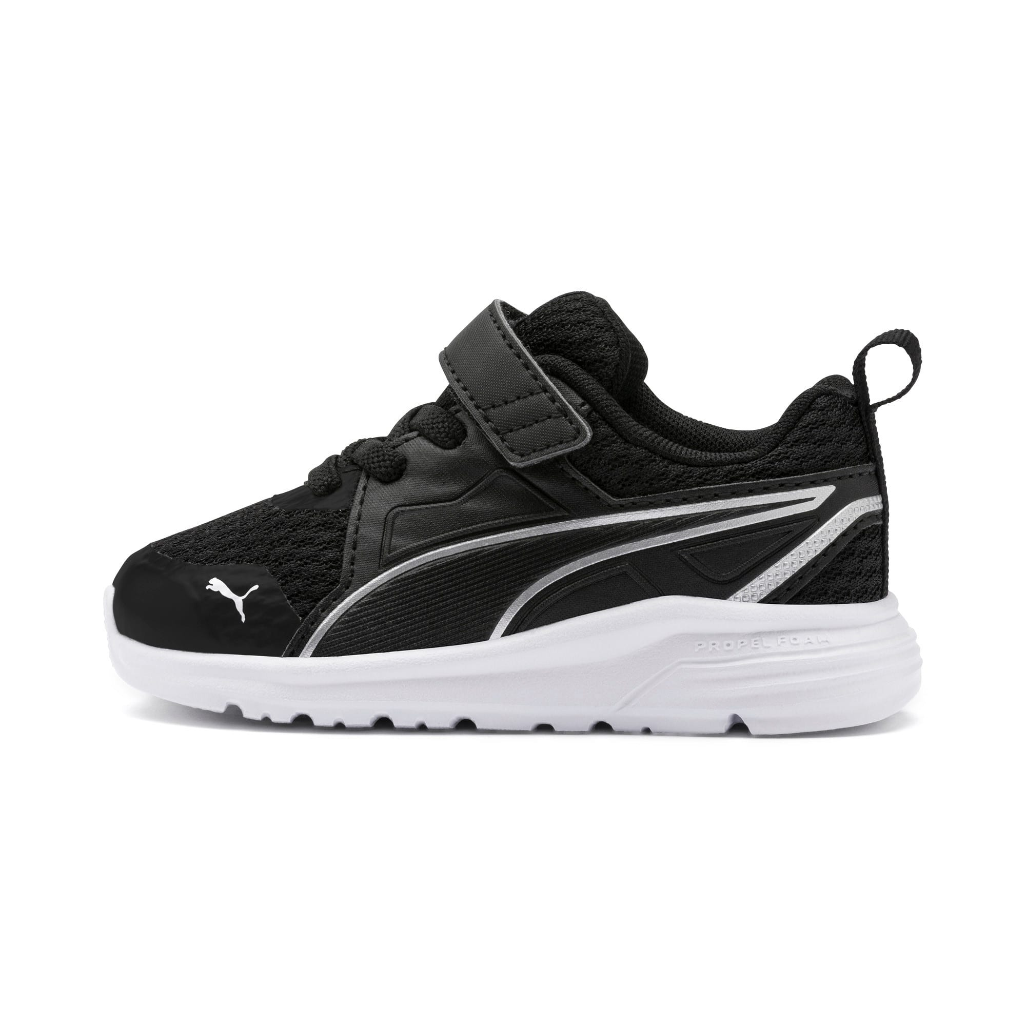 Thumbnail 1 of Pure Jogger Babies' Trainers, Black-Silver-Wht-Nrgy Yellow, medium