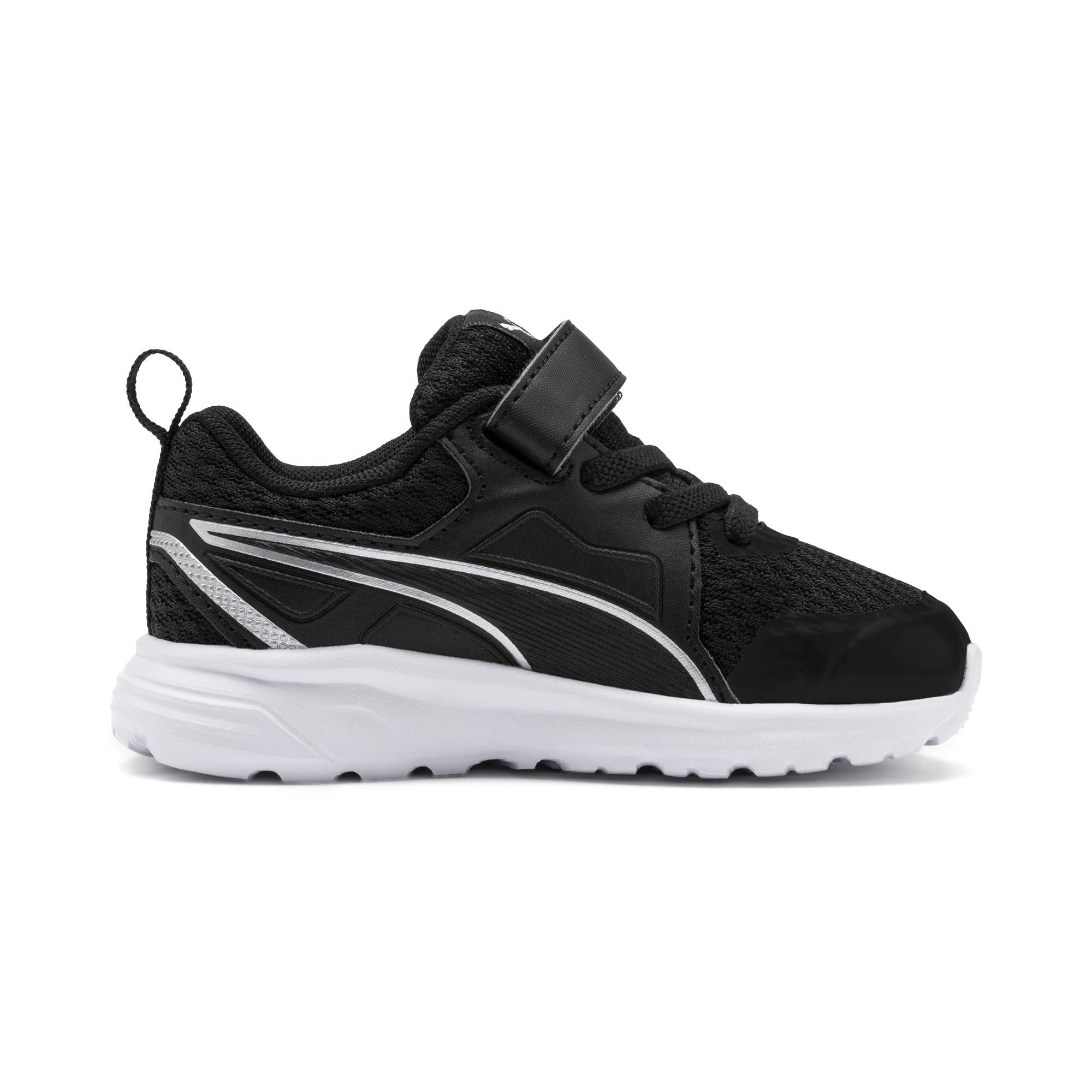 Thumbnail 5 of Pure Jogger Babies' Trainers, Black-Silver-Wht-Nrgy Yellow, medium