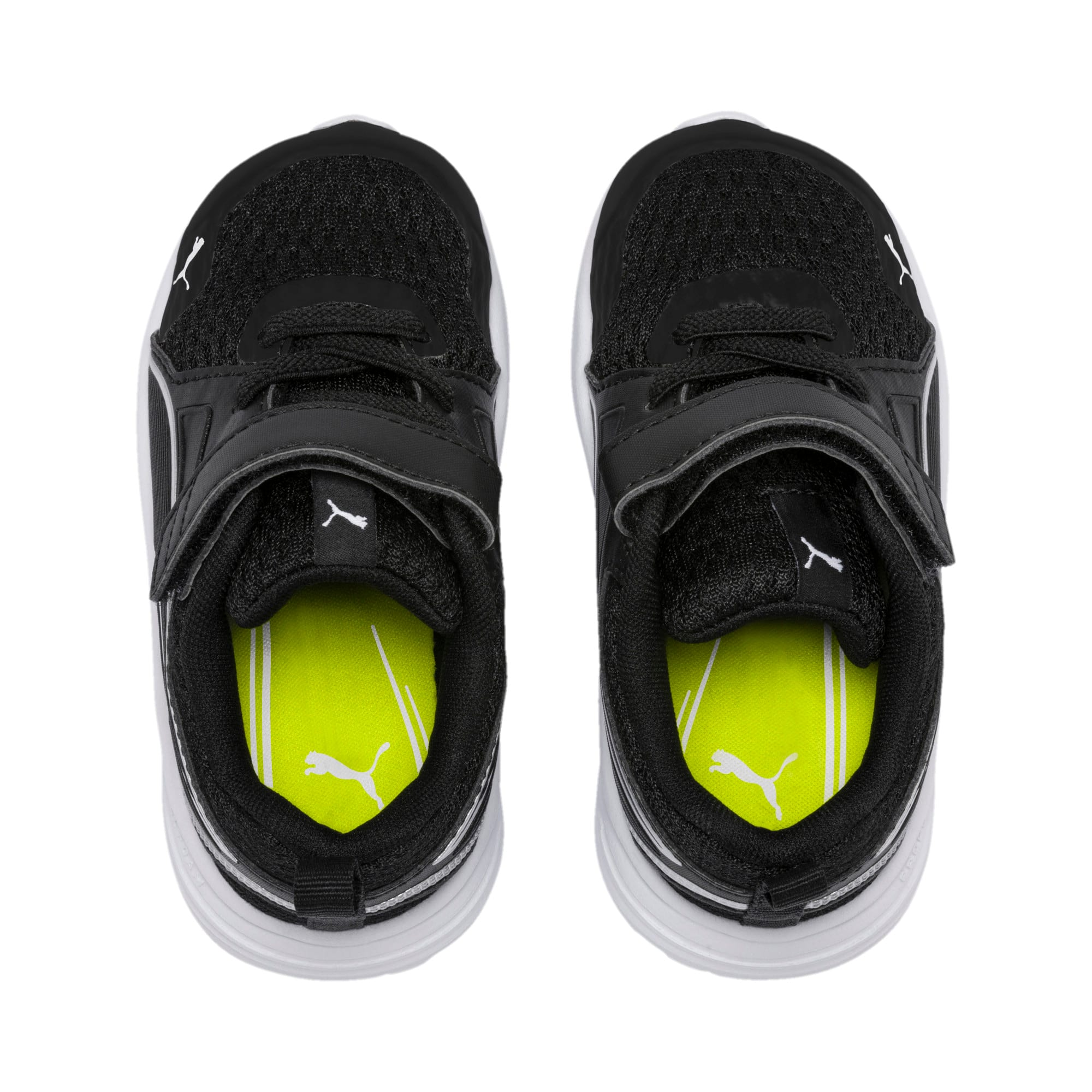 Thumbnail 6 of Pure Jogger Babies' Trainers, Black-Silver-Wht-Nrgy Yellow, medium