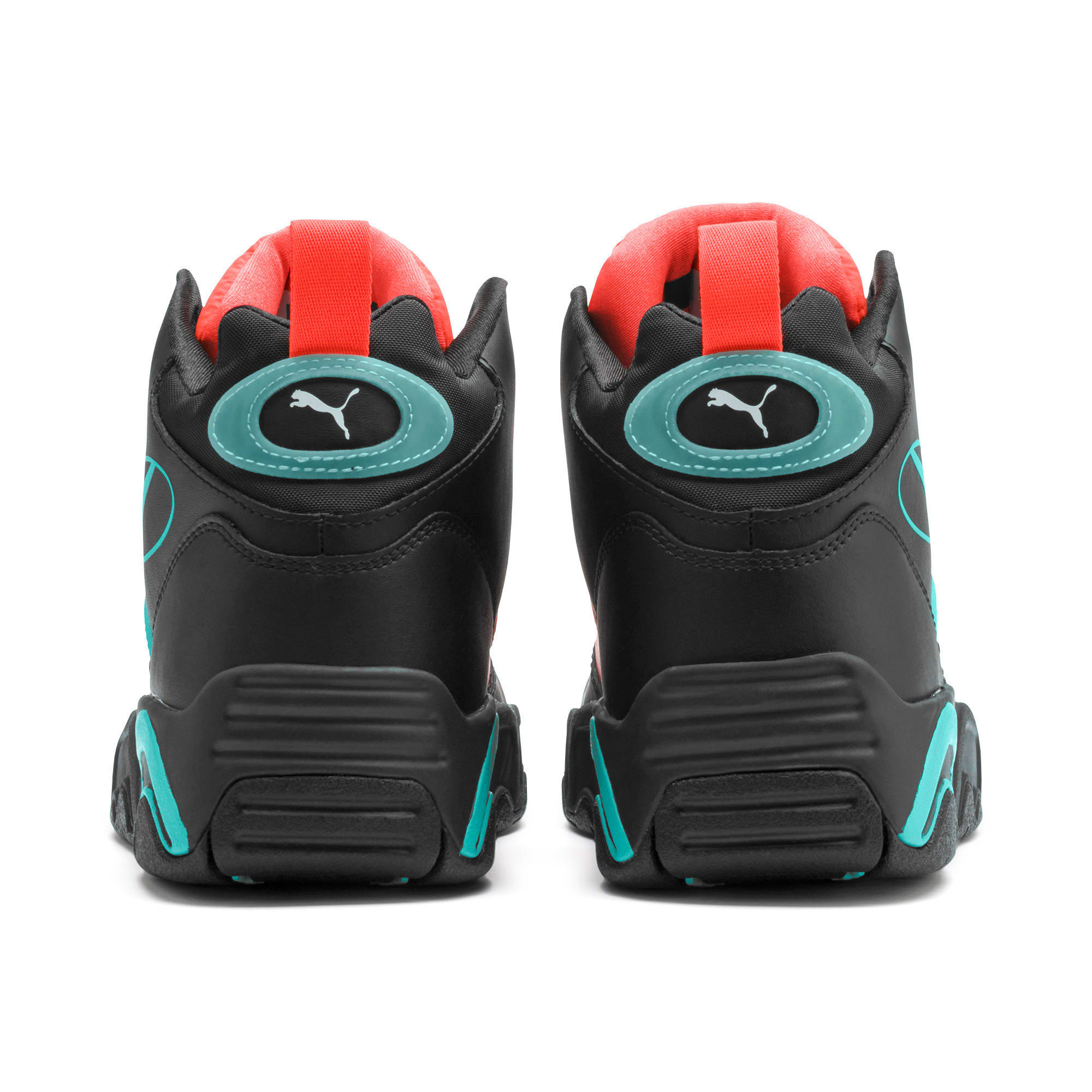 Thumbnail 5 of Source Mid Buzzer Trainers, P Blk-Nrgy Red-BlueTurquoise, medium-IND