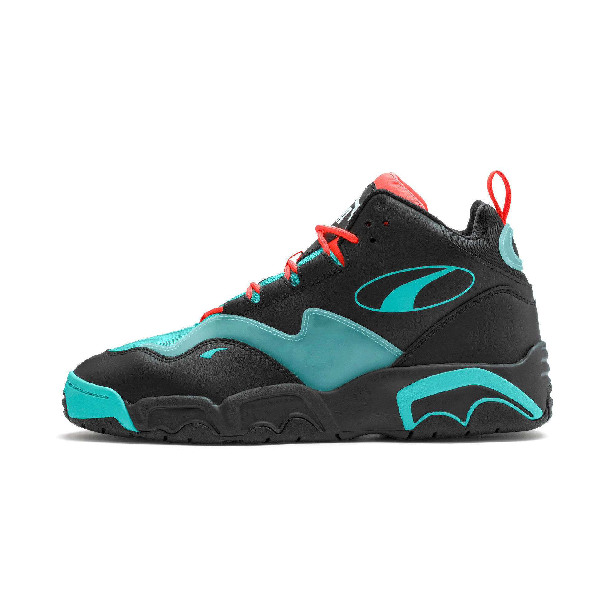 Thumbnail 1 of Source Mid Buzzer Trainers, P Blk-Nrgy Red-BlueTurquoise, medium-IND