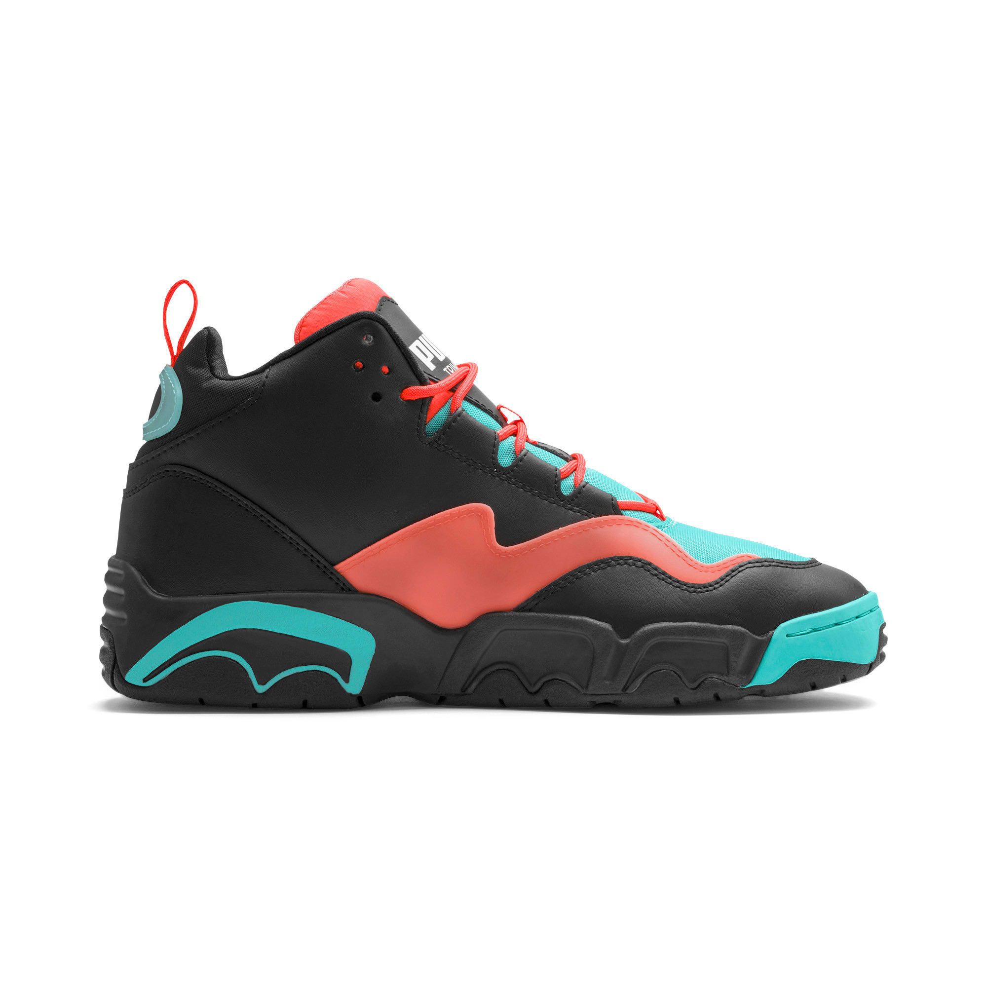 Thumbnail 7 of Source Mid Buzzer Trainers, P Blk-Nrgy Red-BlueTurquoise, medium-IND