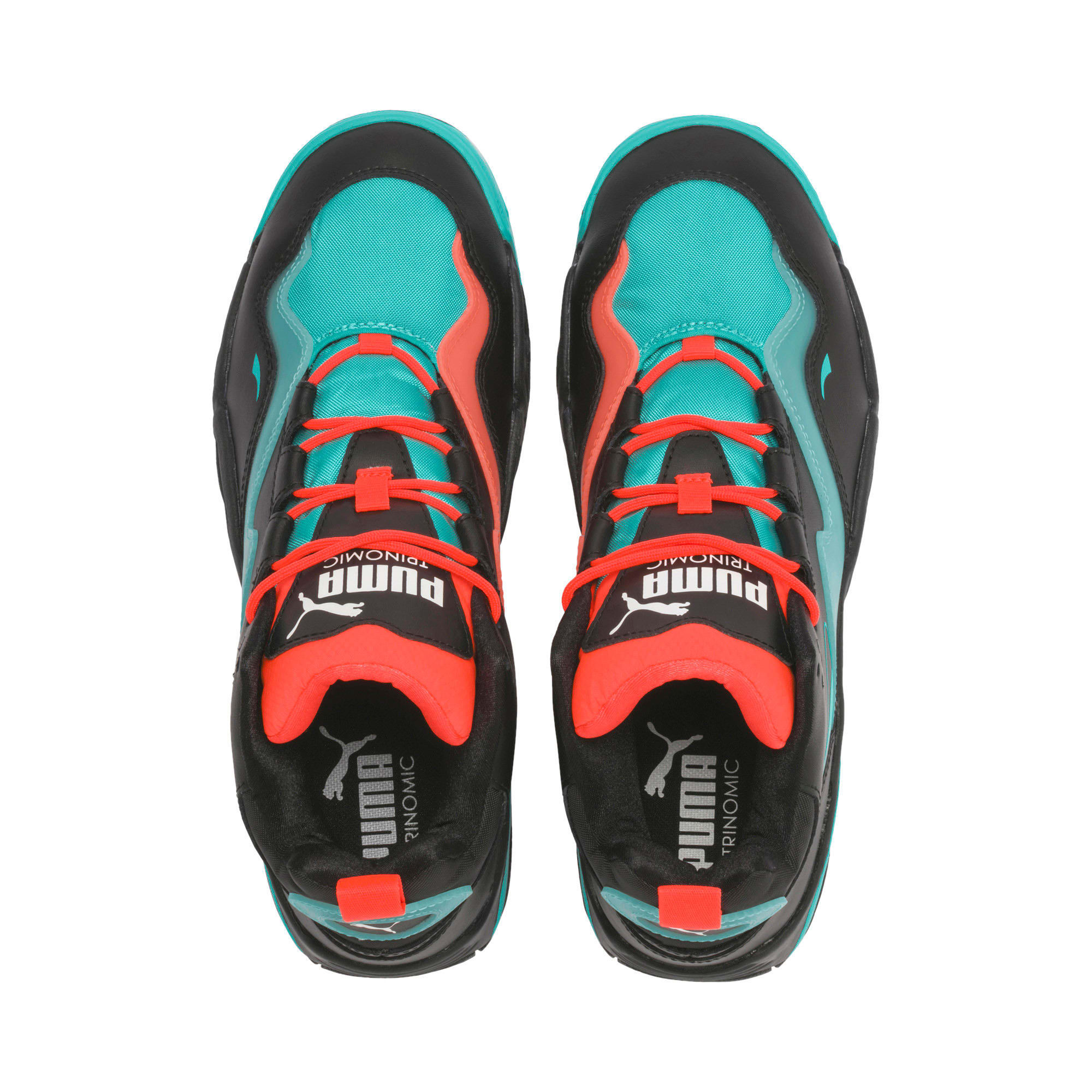 Thumbnail 8 of Source Mid Buzzer Trainers, P Blk-Nrgy Red-BlueTurquoise, medium-IND